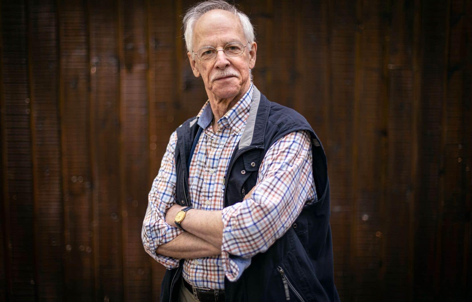 L'écrivain de 77ans, Pierre Morency, aussi ornithologue