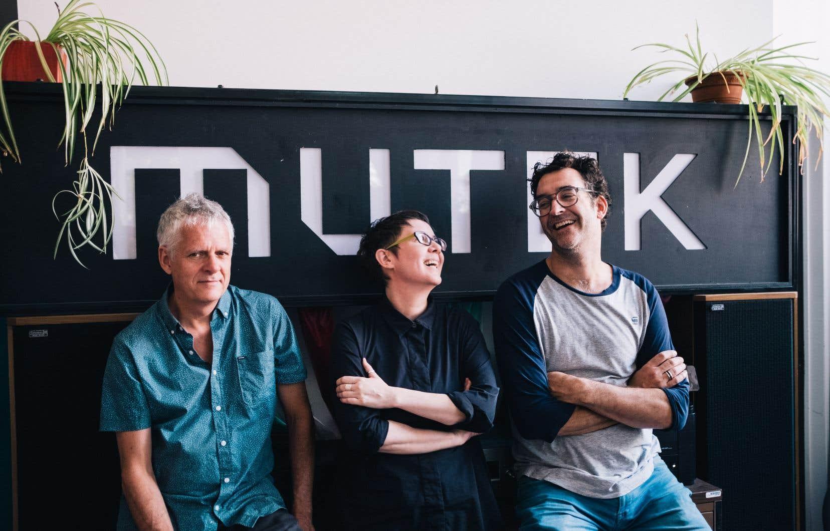 Le noyau dur de MUTEK: Alain Mongeau, Patti Schmidt et Vincent Lemieux
