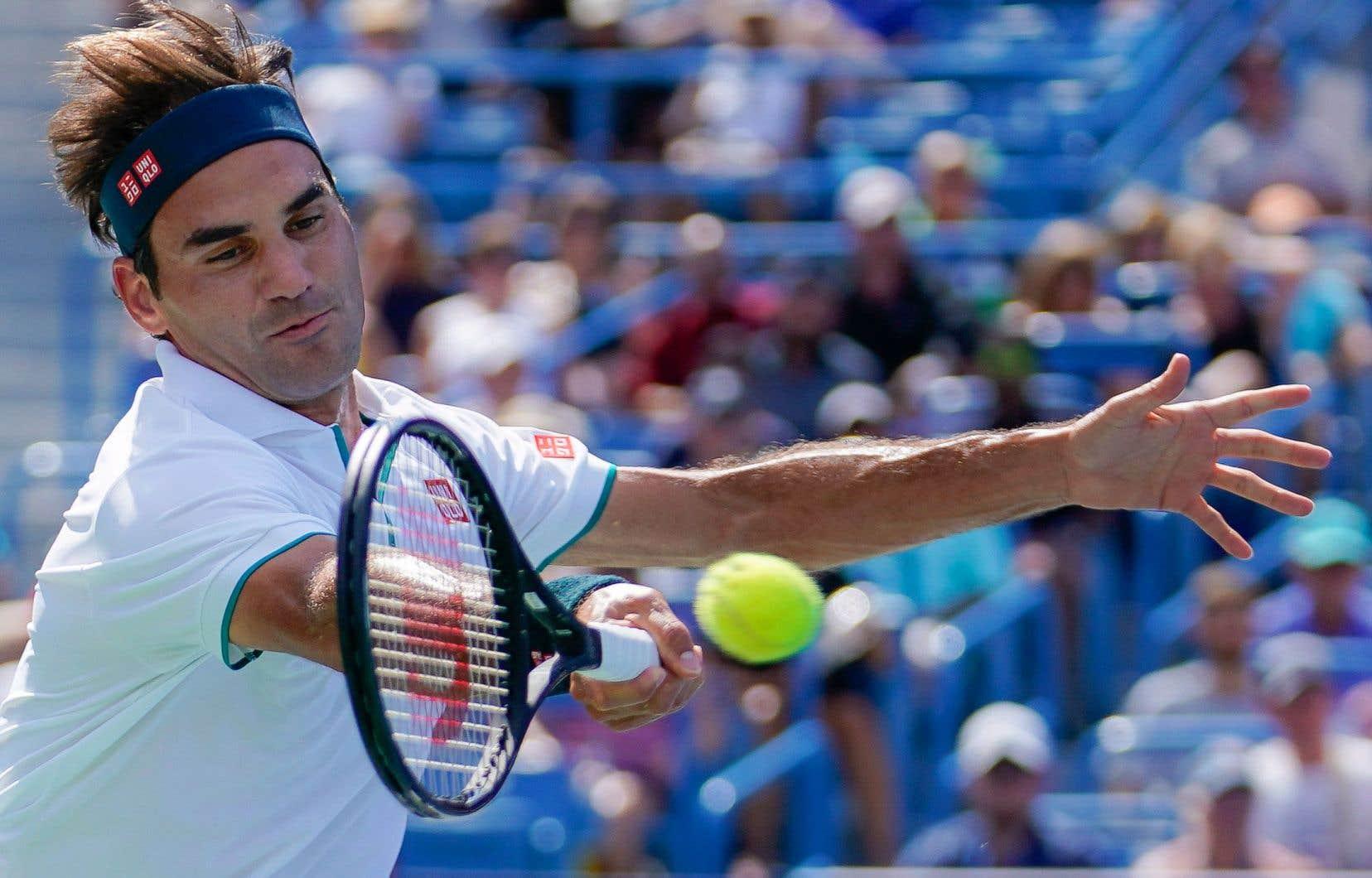 À son premier tournoi depuis Wimbledon, Roger Federer a commis 19 fautes directes contre le Russe Andrey Rublev, jeudi, à Cincinnati.