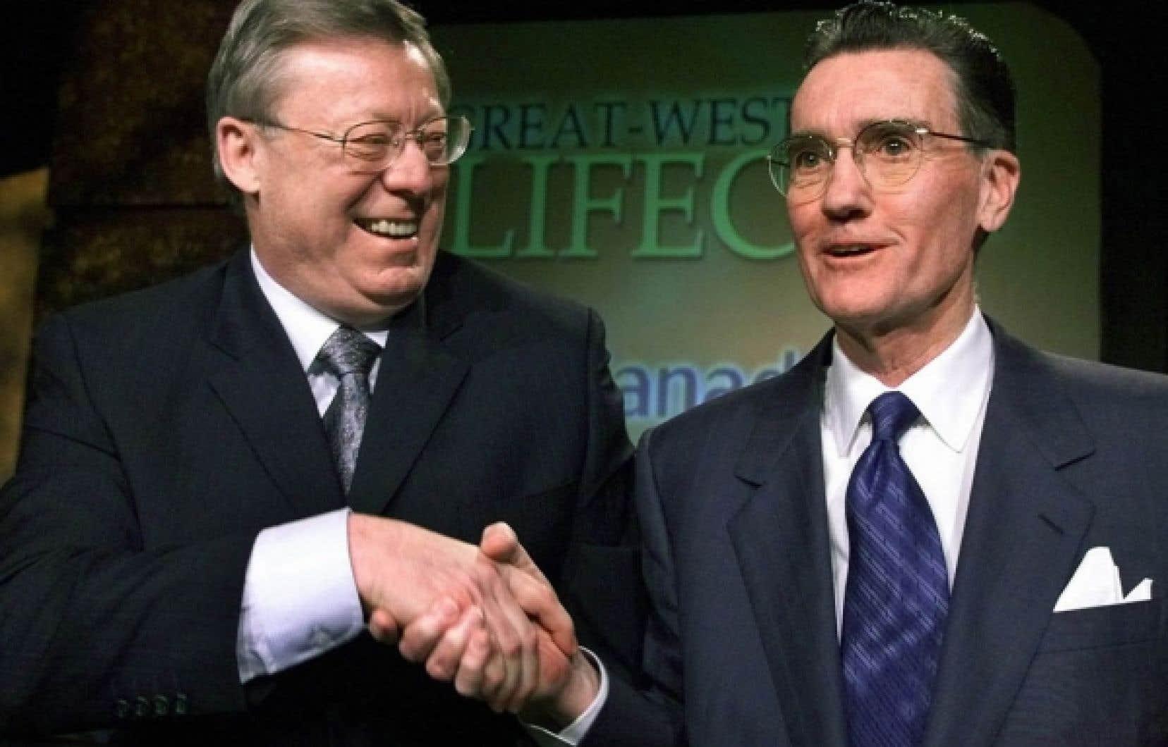 Alors que les sociétés d'assurance québécoises devenaient capables d'opérer à travers le Canada (l'Industrielle-Alliance, Assurance Vie Desjardins et la SSQ), la Financière Power consolidait Great West Life, acquise en 1969, en achetant London Life en 1997 puis Canada Life en 2003 (notre photo).<br />