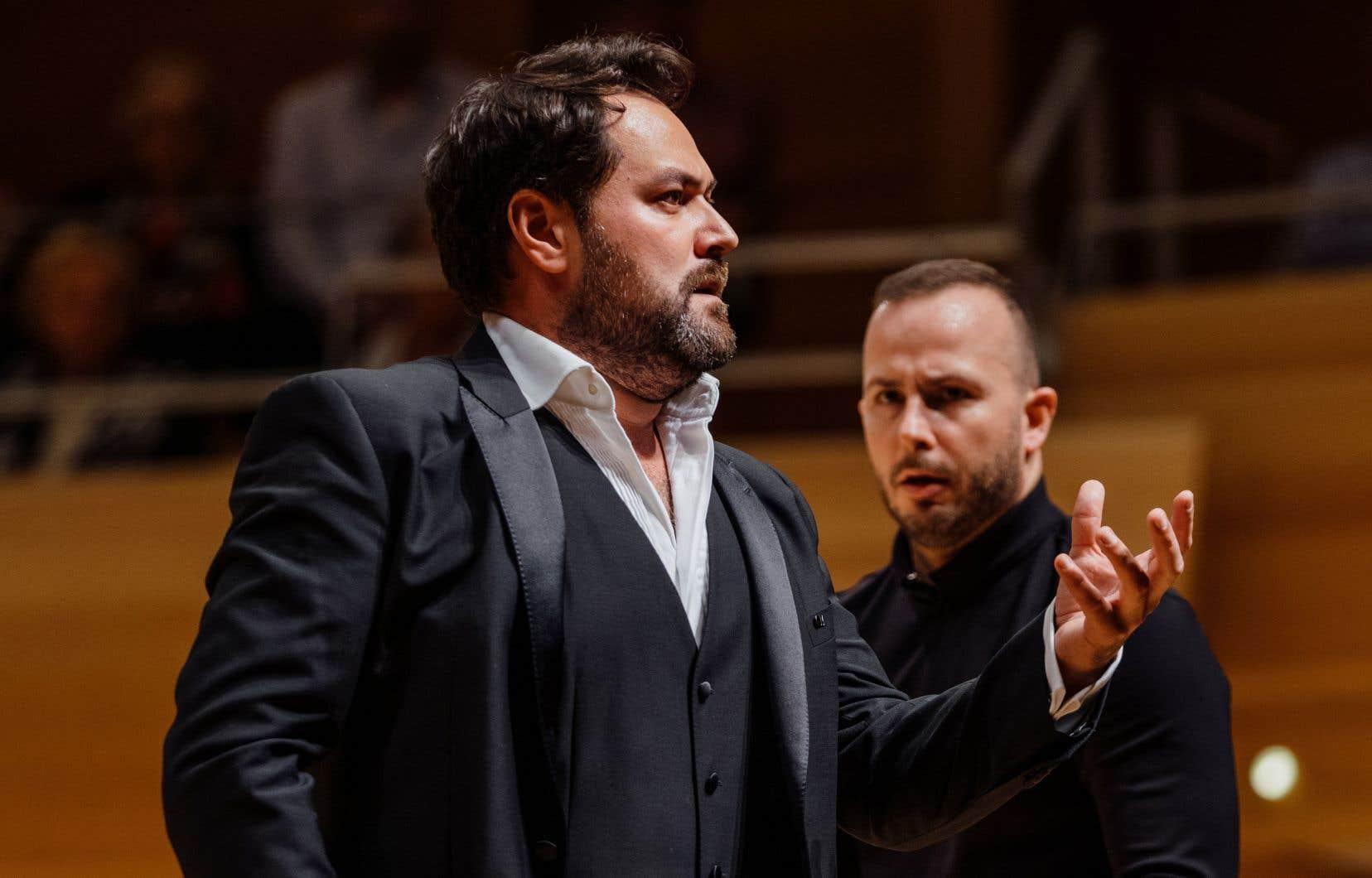 Le concert de l'Orchestre Métropolitain du 28octobre 2018 avait permis d'entendre quelques échantillons du répertoire d'airs de Verdi enregistrés avec la basse russe Ildar Abdrazakov (à gauche).