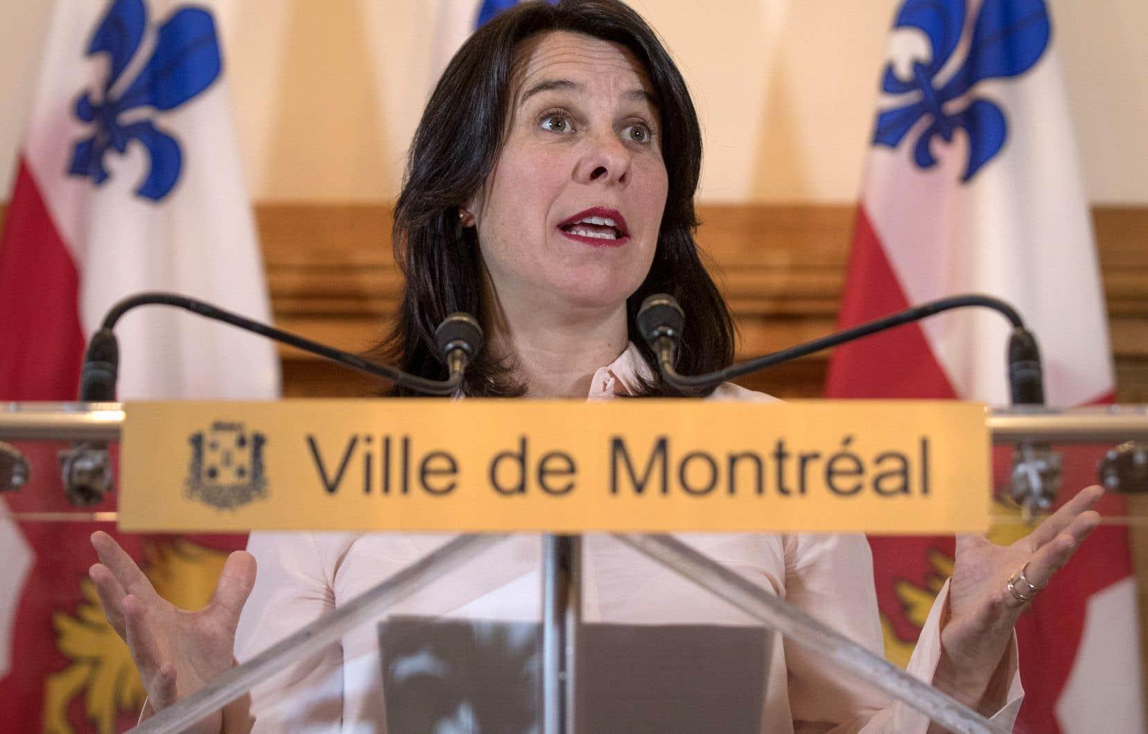 La mairesse Valérie Plante
