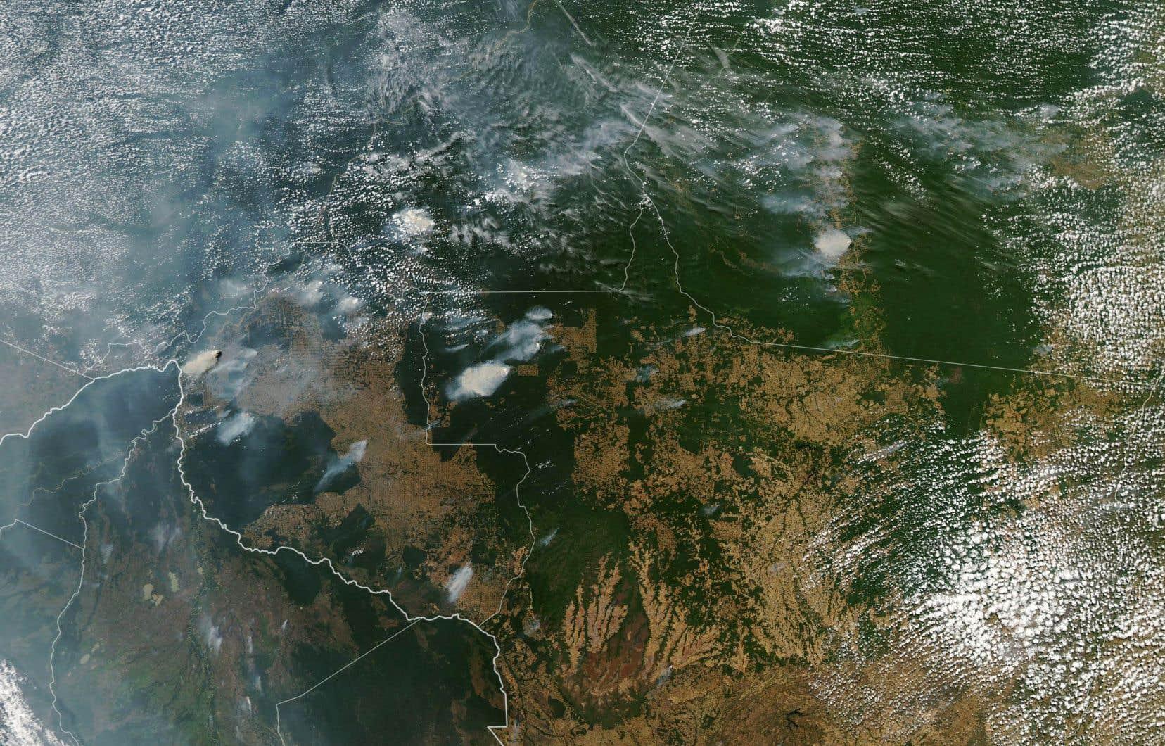 Il n'était pas possible d'évaluer mercredi l'ampleur des superficies affectées par des feux de forêt en Amazonie.