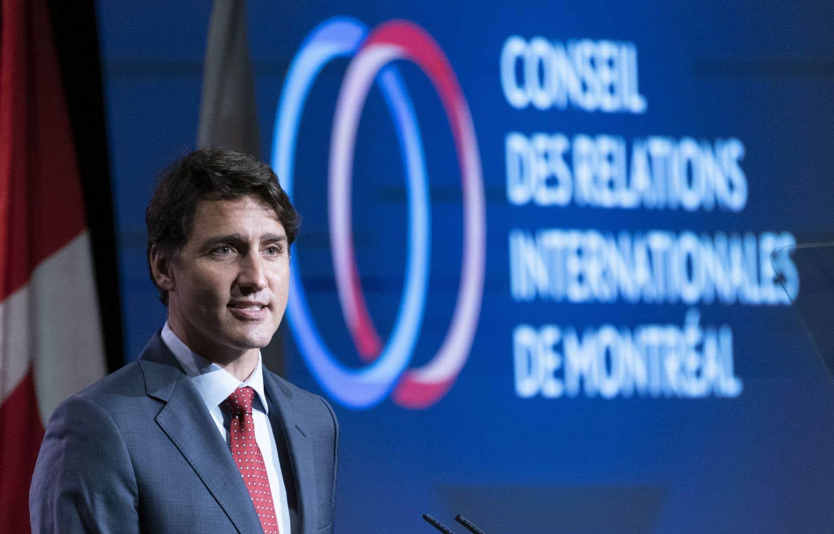 Le premier ministre Justin Trudeau a livré un discours à saveur préélectorale devant le CORIM.