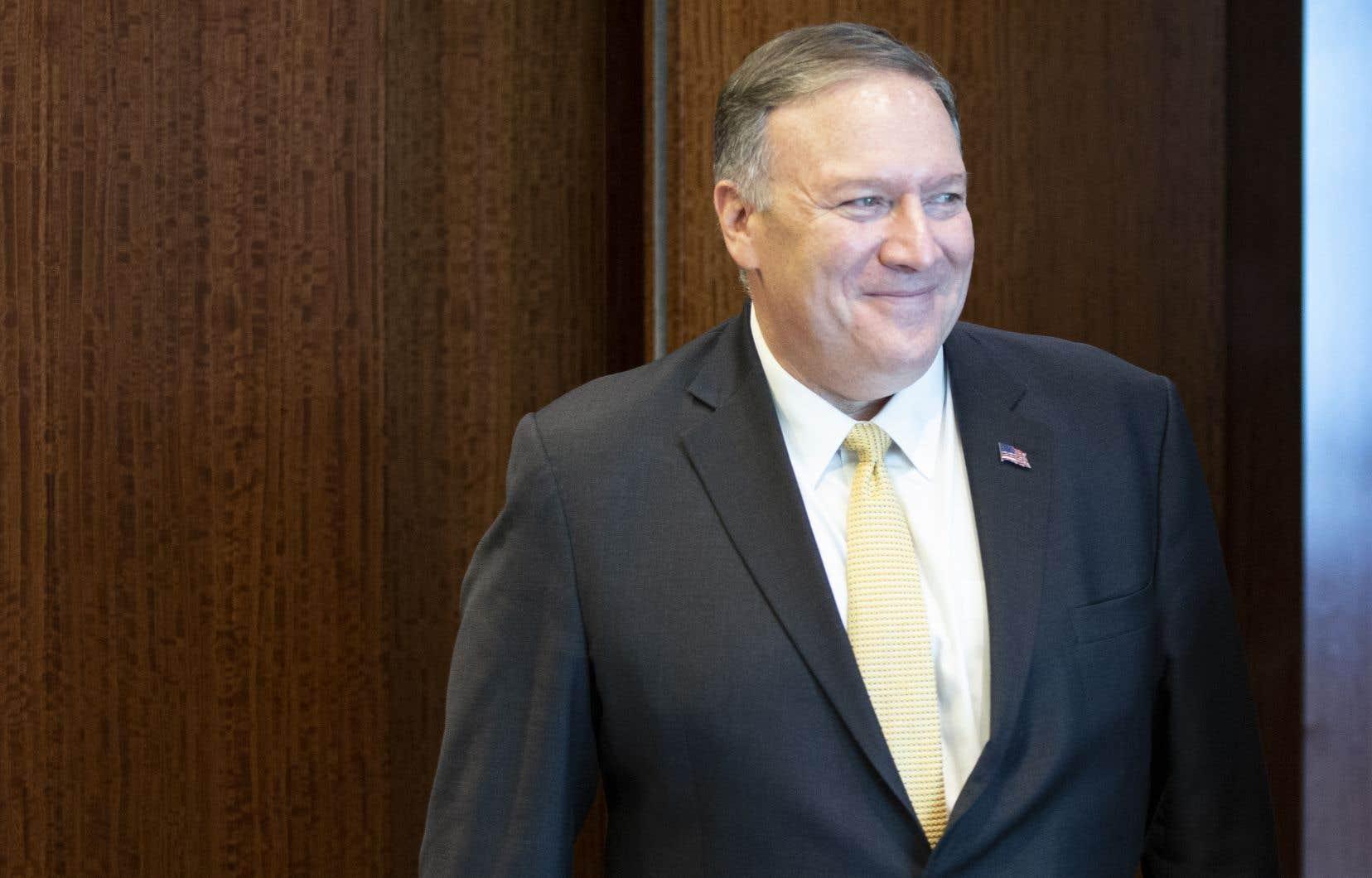 Lesecrétaire d'État américain, Mike Pompeo