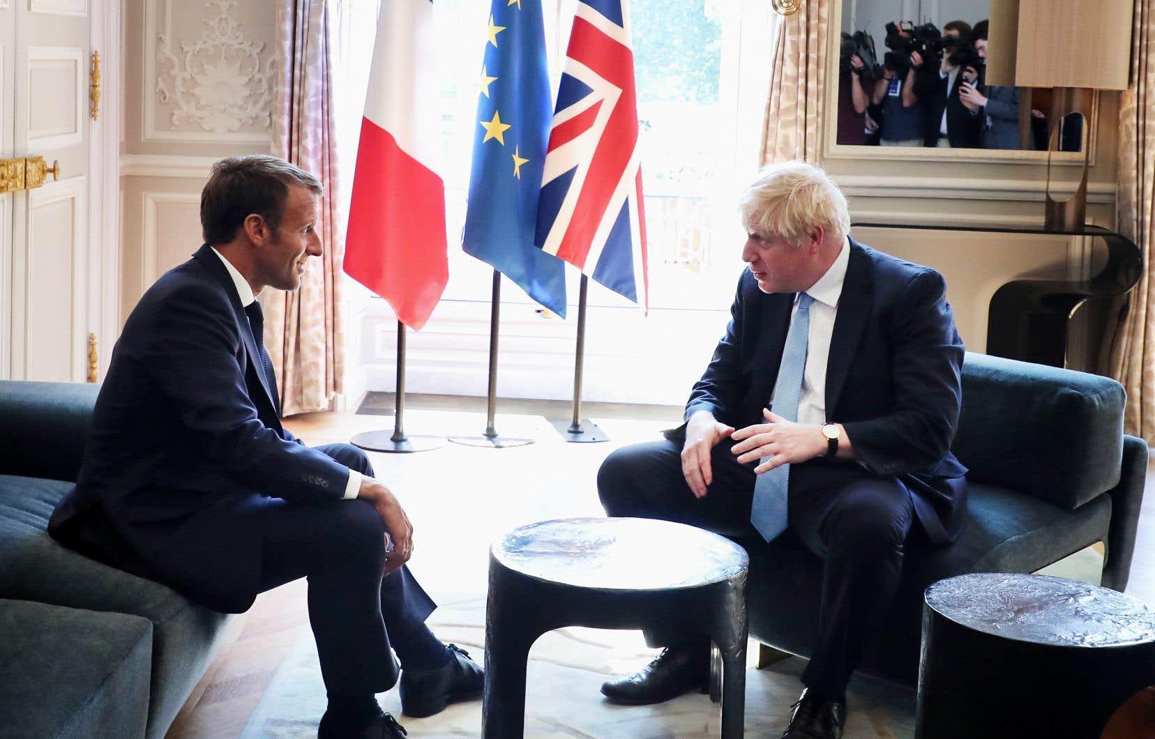 Le président français, Emmanuel Macron, et le premier ministre britannique, Boris Johnson.