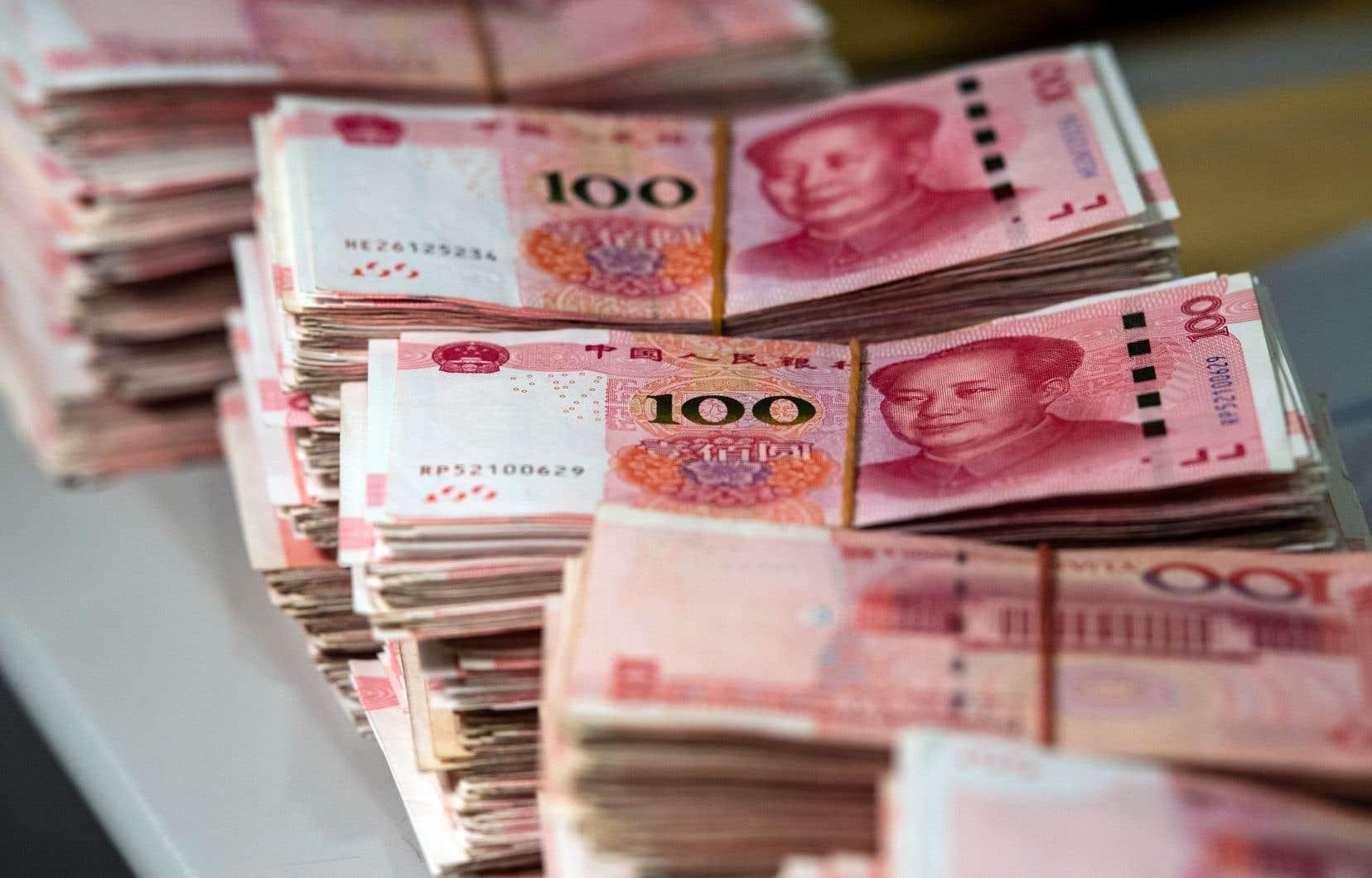 Le yuan a chuté d'environ 4% en août pour atteindre son point le plus bas en plus de 11ans lundi.