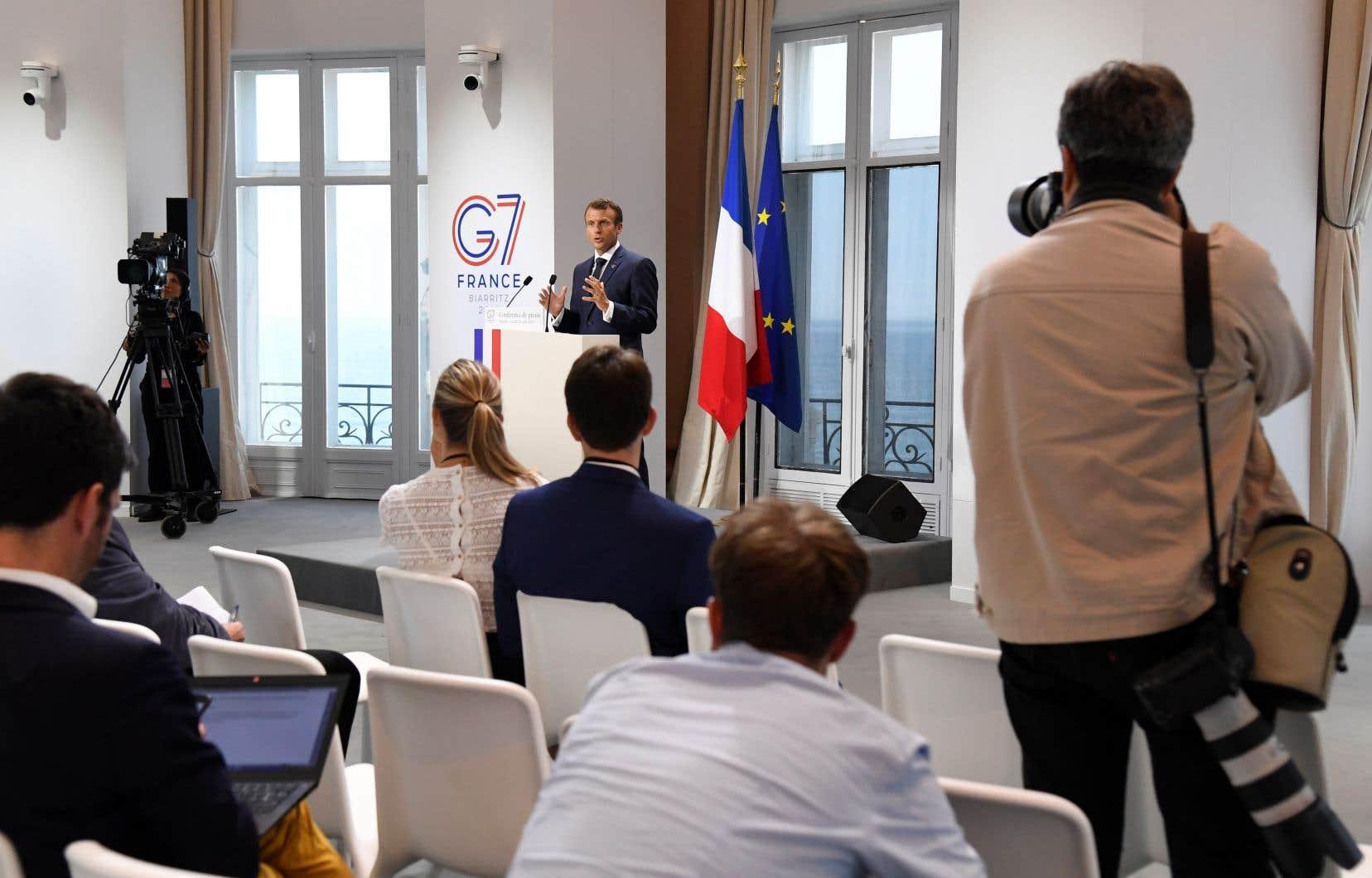 «Il y a beaucoup de nervosité sur cette fameuse taxe numérique française», mais «je crois qu'on a trouvé un très bon accord», a assuré Emmanuel Macron.