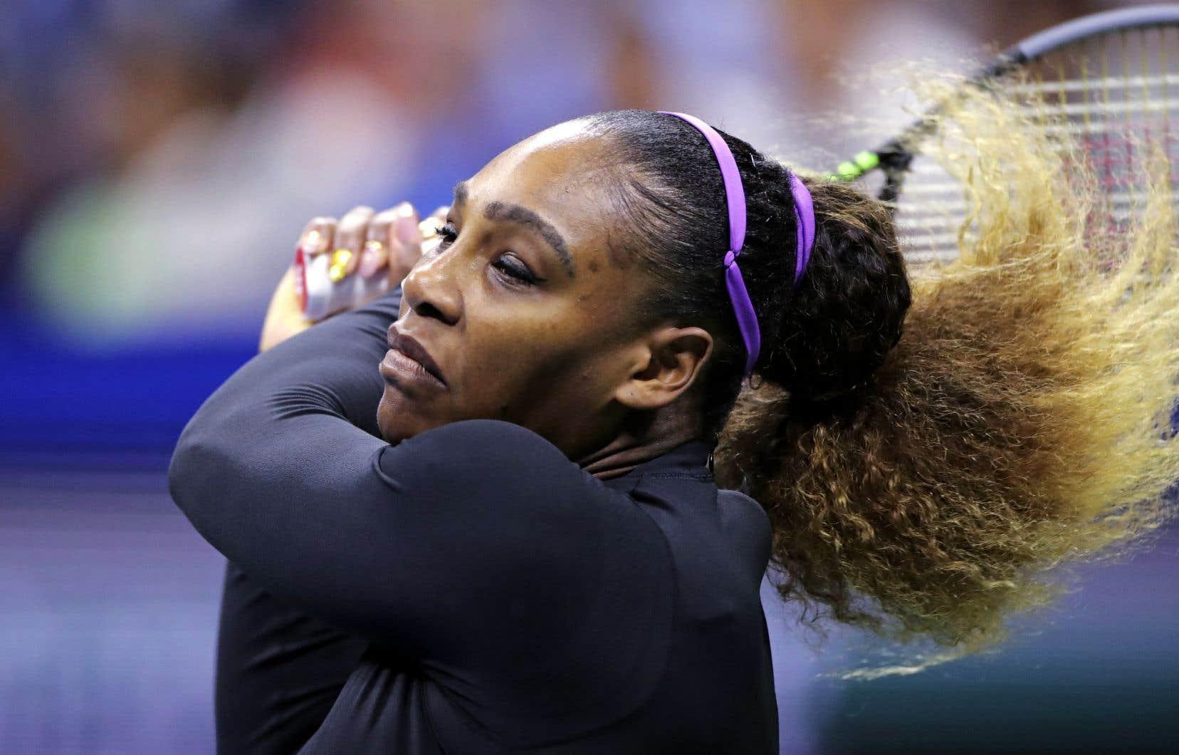 Après avoir remporté la première manche en 24 minutes, Serena Williams a continué sur cette lancée pour le reste du match.