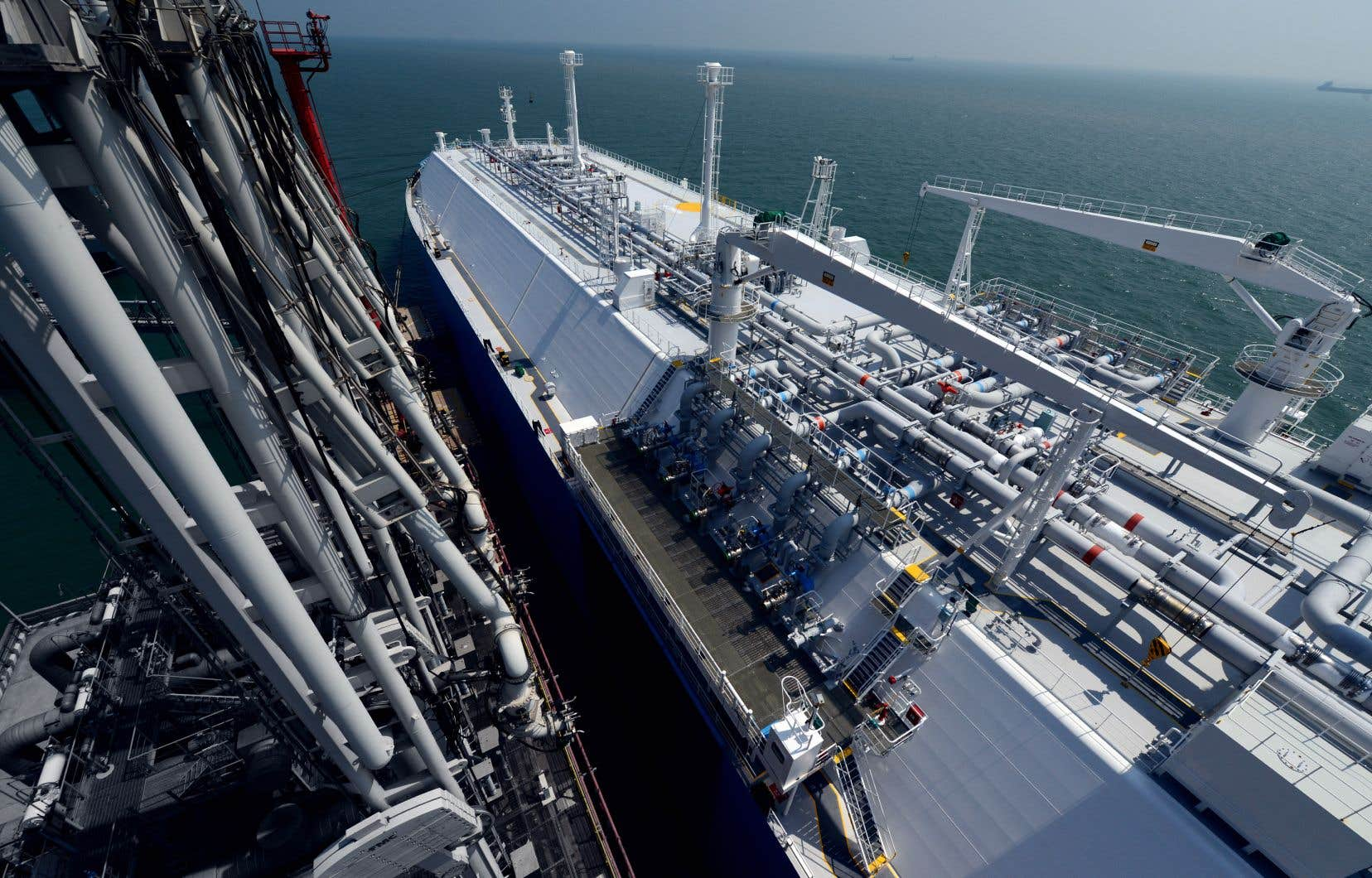 Le projet GNL Québec acheminerait par pipeline du gaz de schiste de l'Ouest canadien jusqu'à Saguenay où il serait liquéfié et transbordé sur des immenses bateaux pour être exporté à l'international.