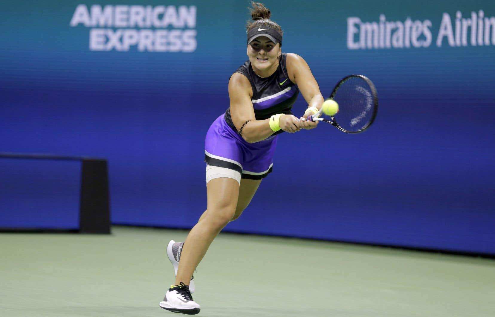 L'Ontarienne Bianca Andreescu a vaincul'Américaine Taylor Townsend 6-1, 4-6, 6-2.