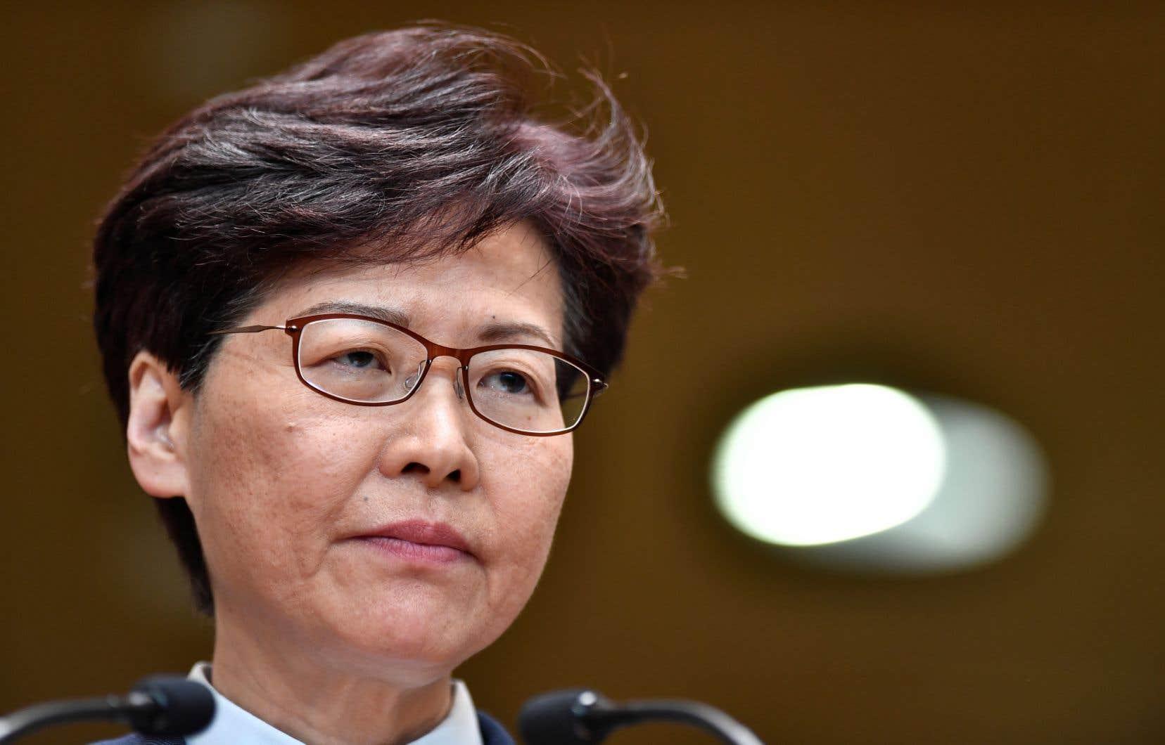 La cheffe de l'exécutif de Hong Kong, Carrie Lam