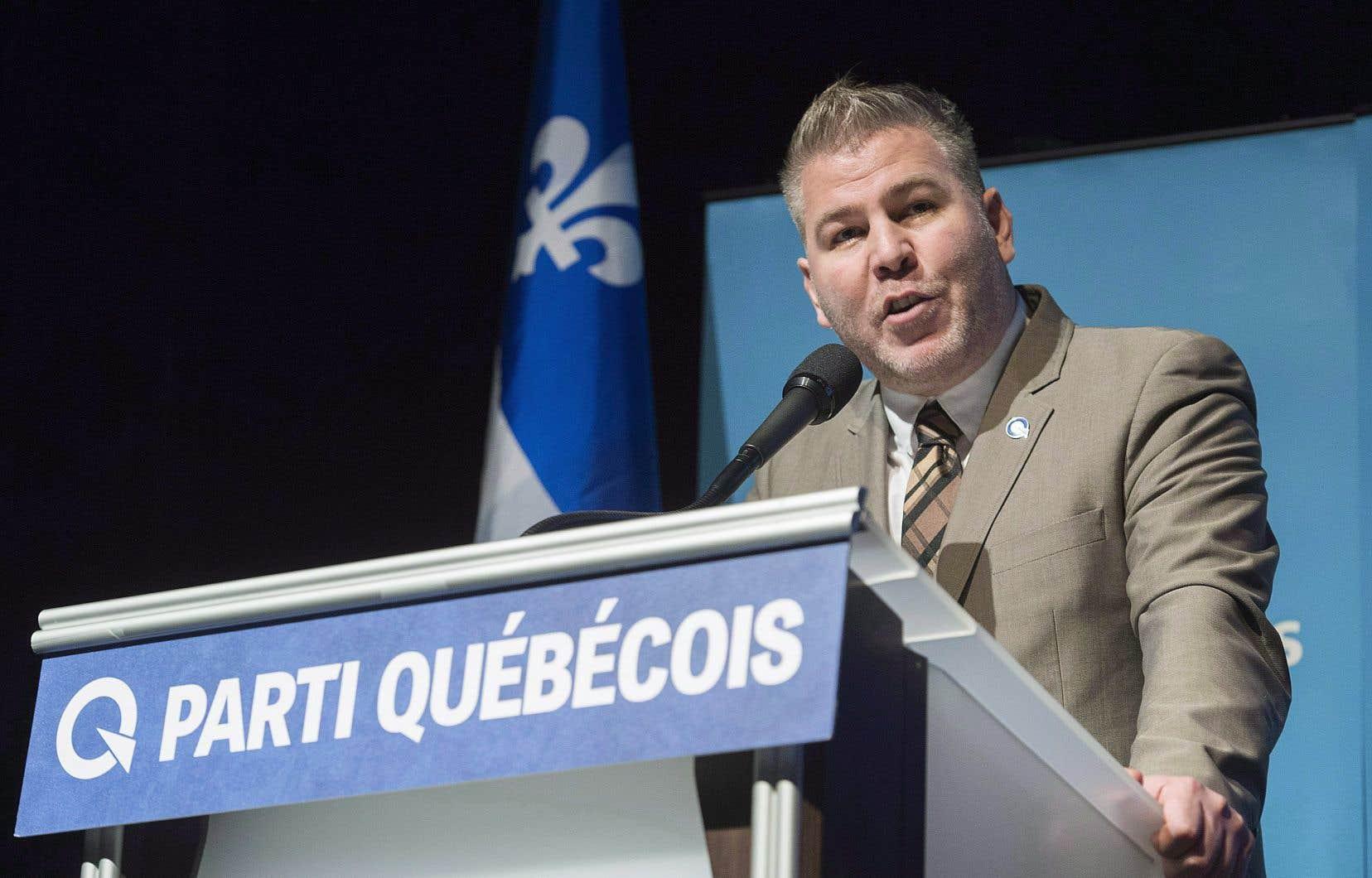 Le chef du Parti Québécois, Pascal Bérubé