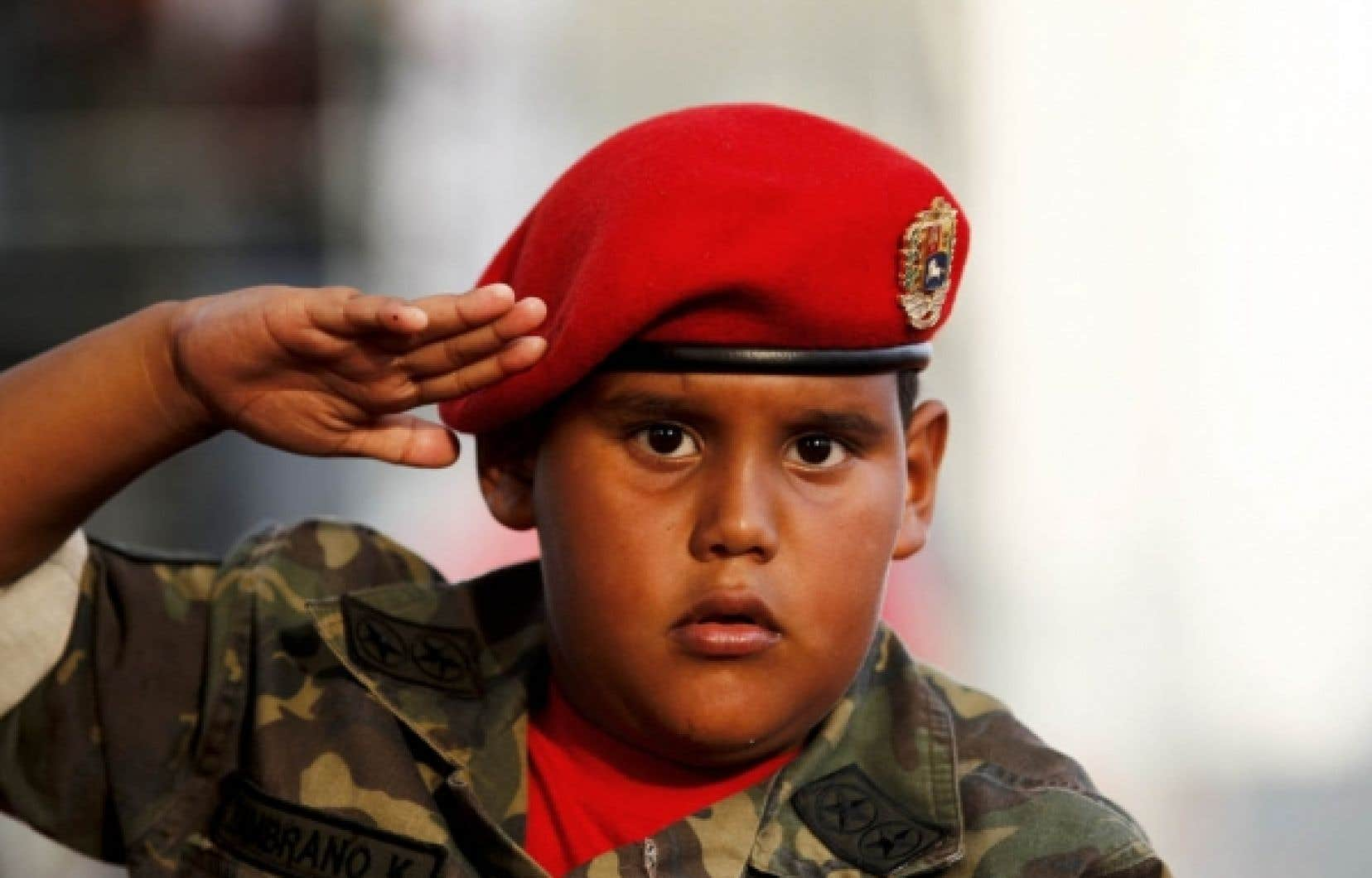 Jeune partisan du président Chávez<br />