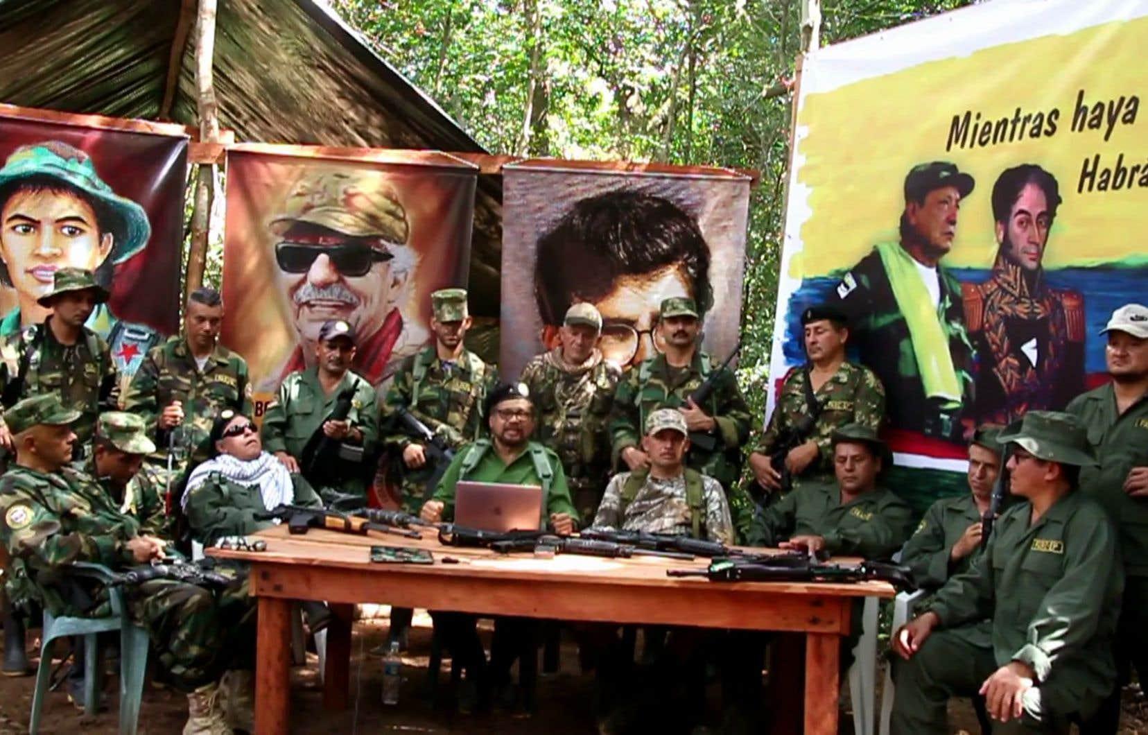 La dissidence des FARC a annoncé, dans une vidéo diffusée mercredi, la création d'un mouvement politique clandestin, suite à son soulèvement armé la semaine dernière.