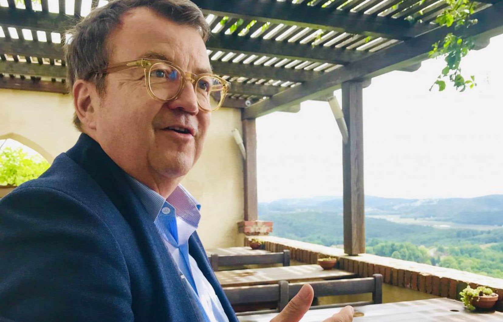 Wilhelm Klinger directeur général sortant de l'office autrichien de la commercialisation du vin