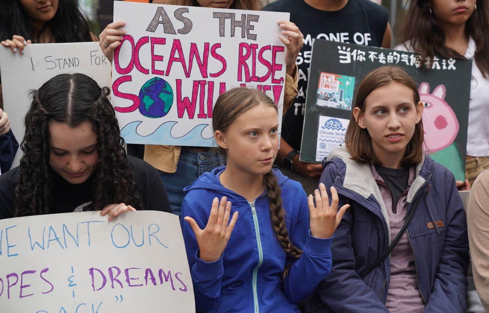 Présentement à New York, la jeune militante a déjà indiqué qu'elle souhaitait participer à la manifestation prévue le 27 septembre à Montréal.