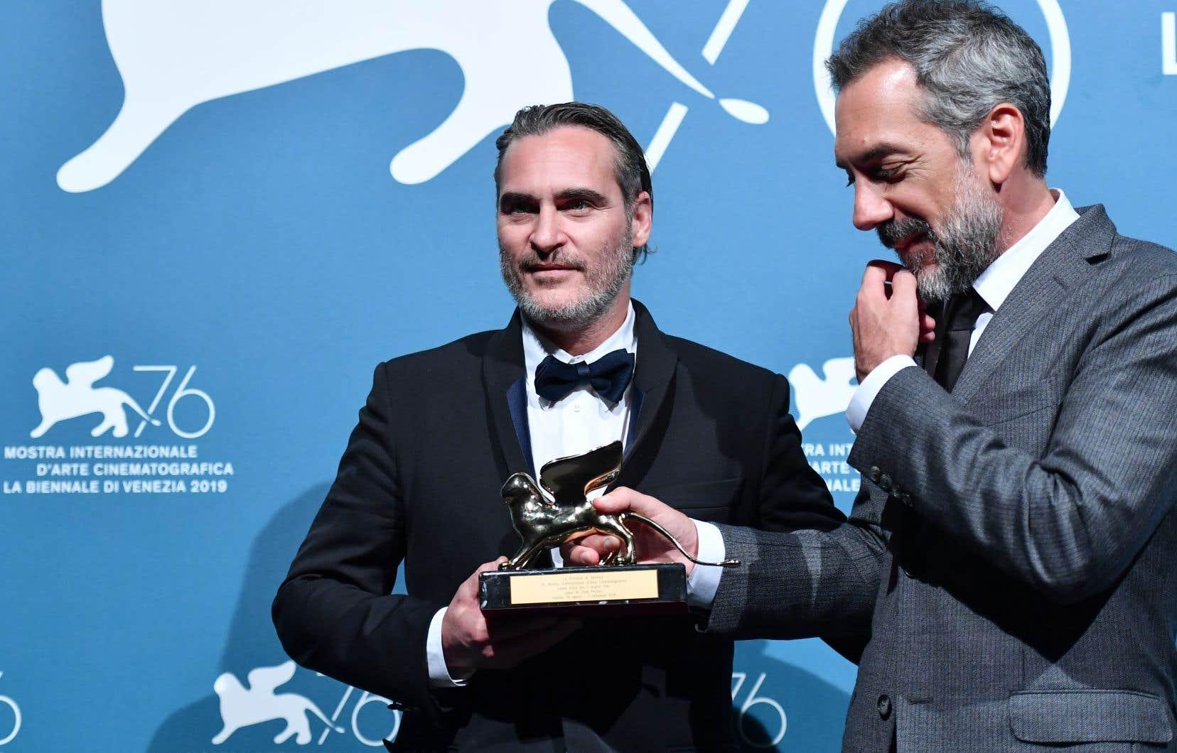 Le réalisateur du «Joker», Todd Phillips (à droite), etl'acteur Joaquin Phoenix (à gauche) incarnant le personnage du Joker.