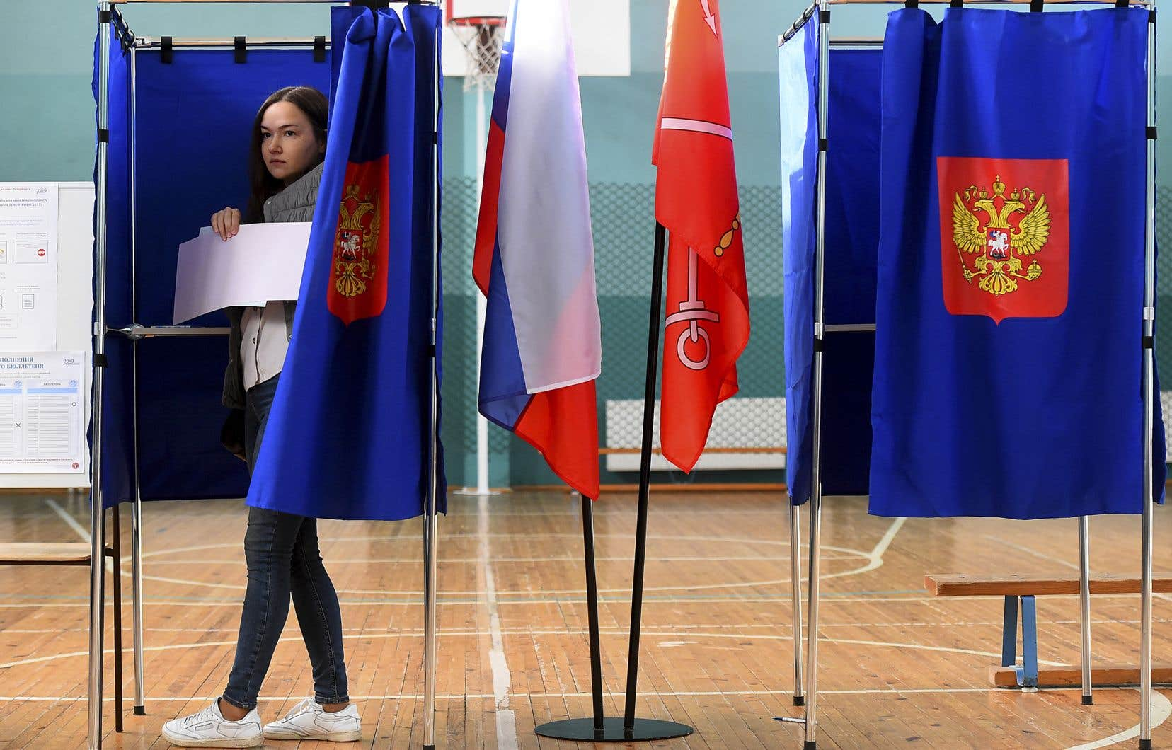 La participation s'annonçait décevante dans la capitale russe, où seuls 17,2% des électeurs s'étaient déplacés à 18h.