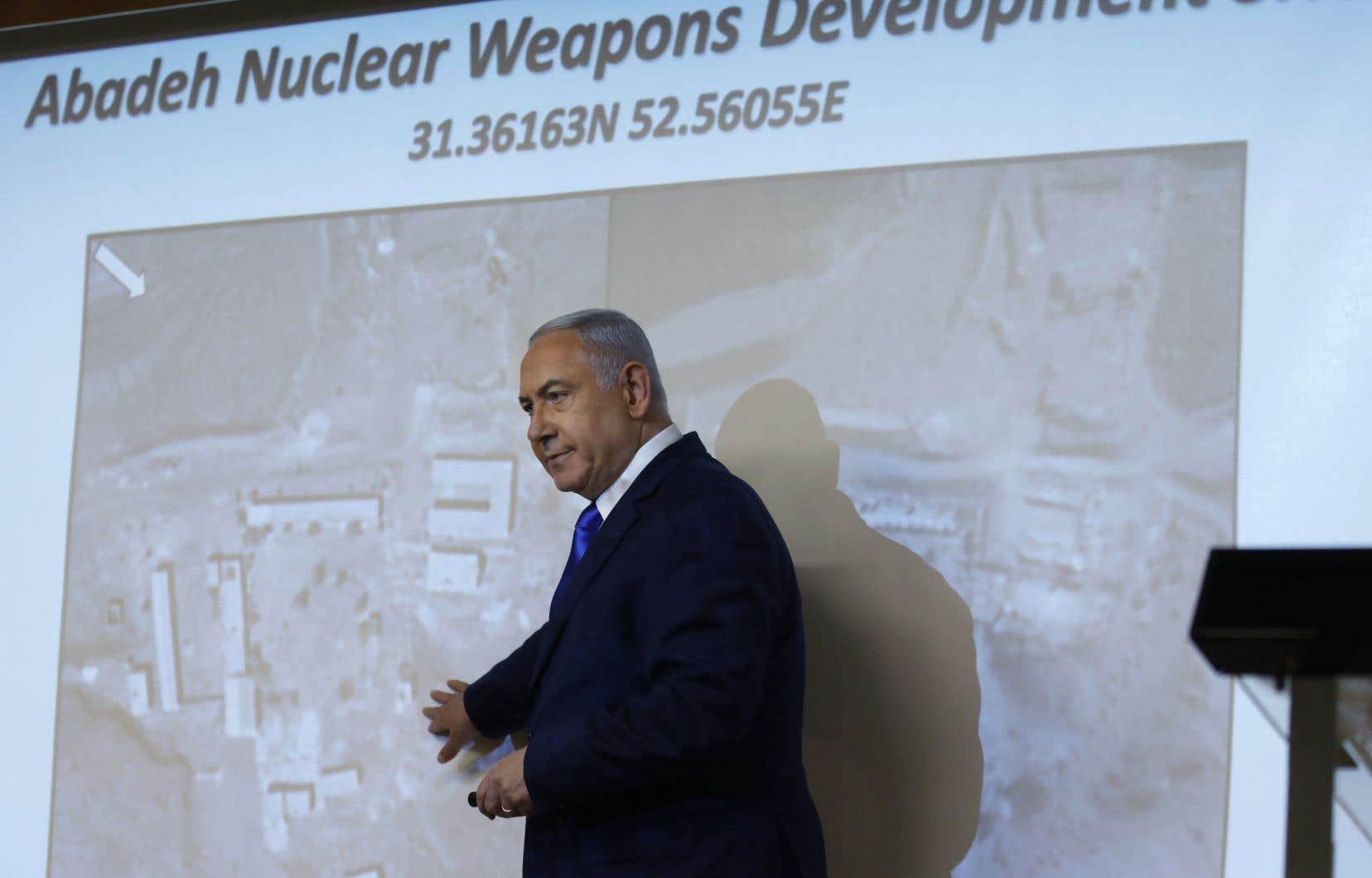 Le premier ministre israélien est un opposant de l'accord sur le nucléaire iranien, dont s'est retiré le gouvernement américain de Donald Trump, un proche allié de M.Nétanyahou.