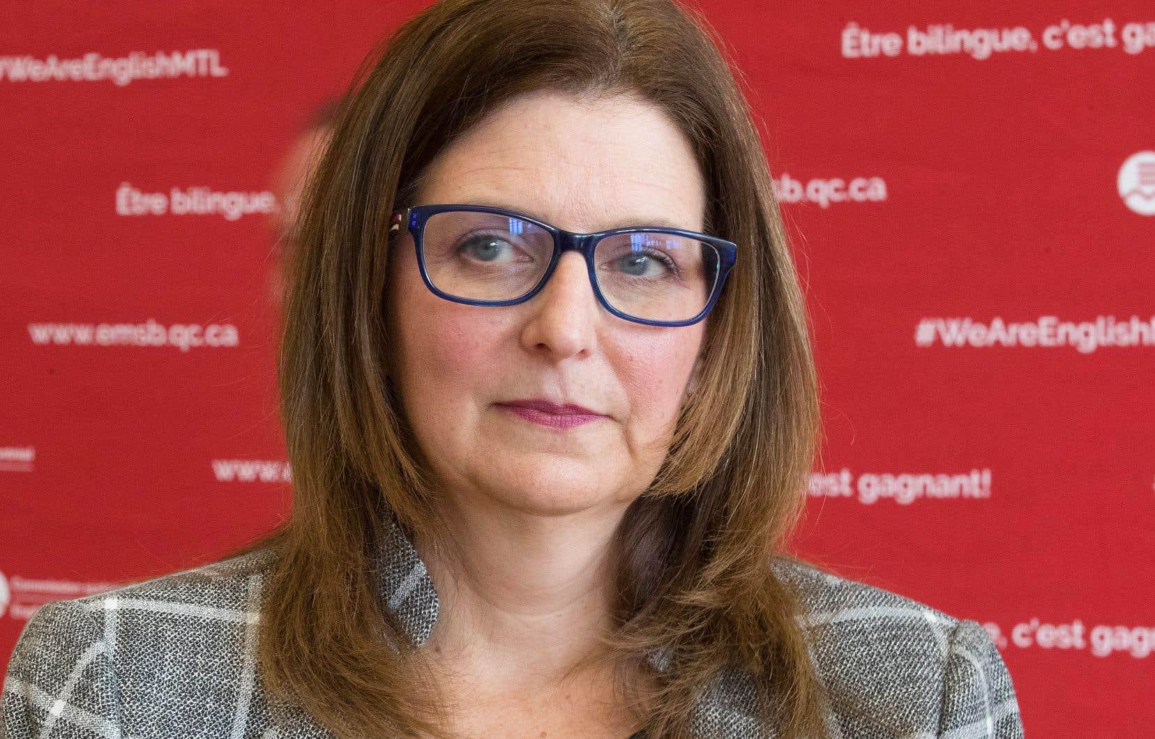 La présidente de la CSMB, Angela Mancini, attaque en justice deux projets du gouvernement Legault.