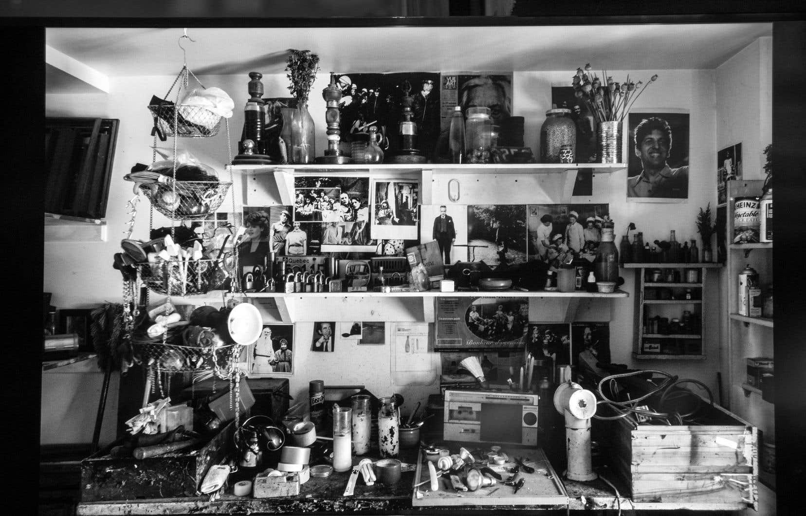 L'atelier de Réjean Ducharme tel qu'il était au jour de son décès.