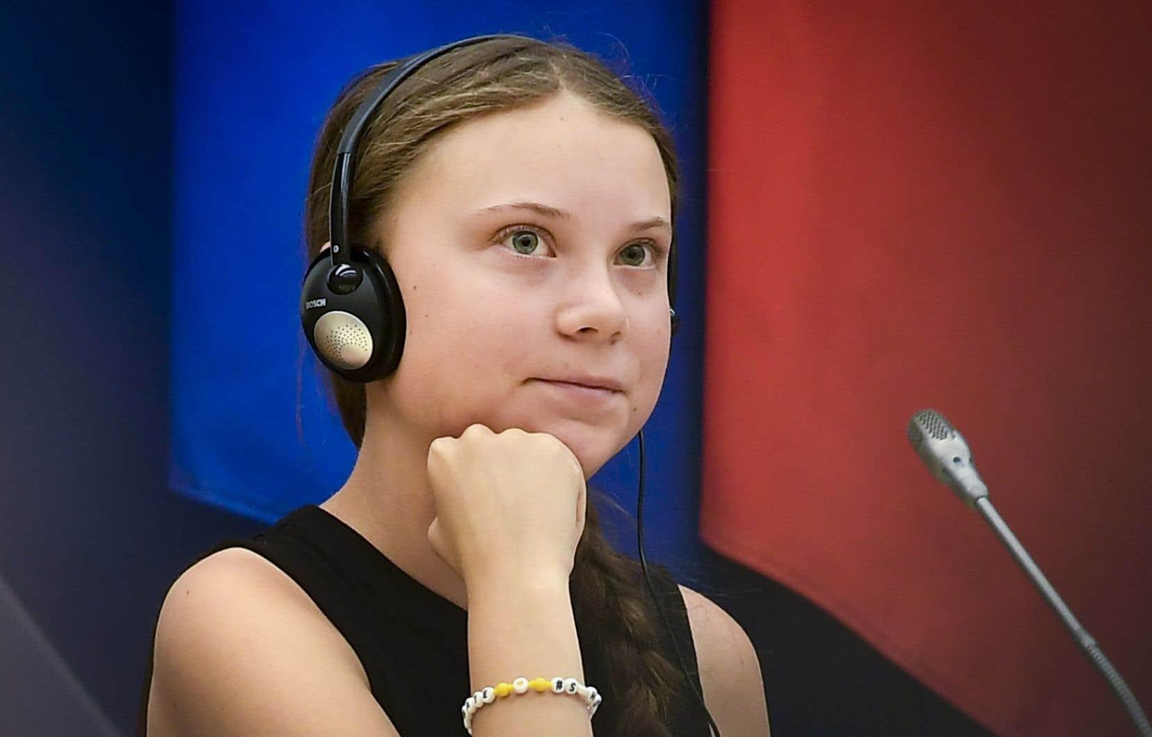 Greta Thunberg, lors de son allocution devant l'Assemblée nationale à Paris cet été