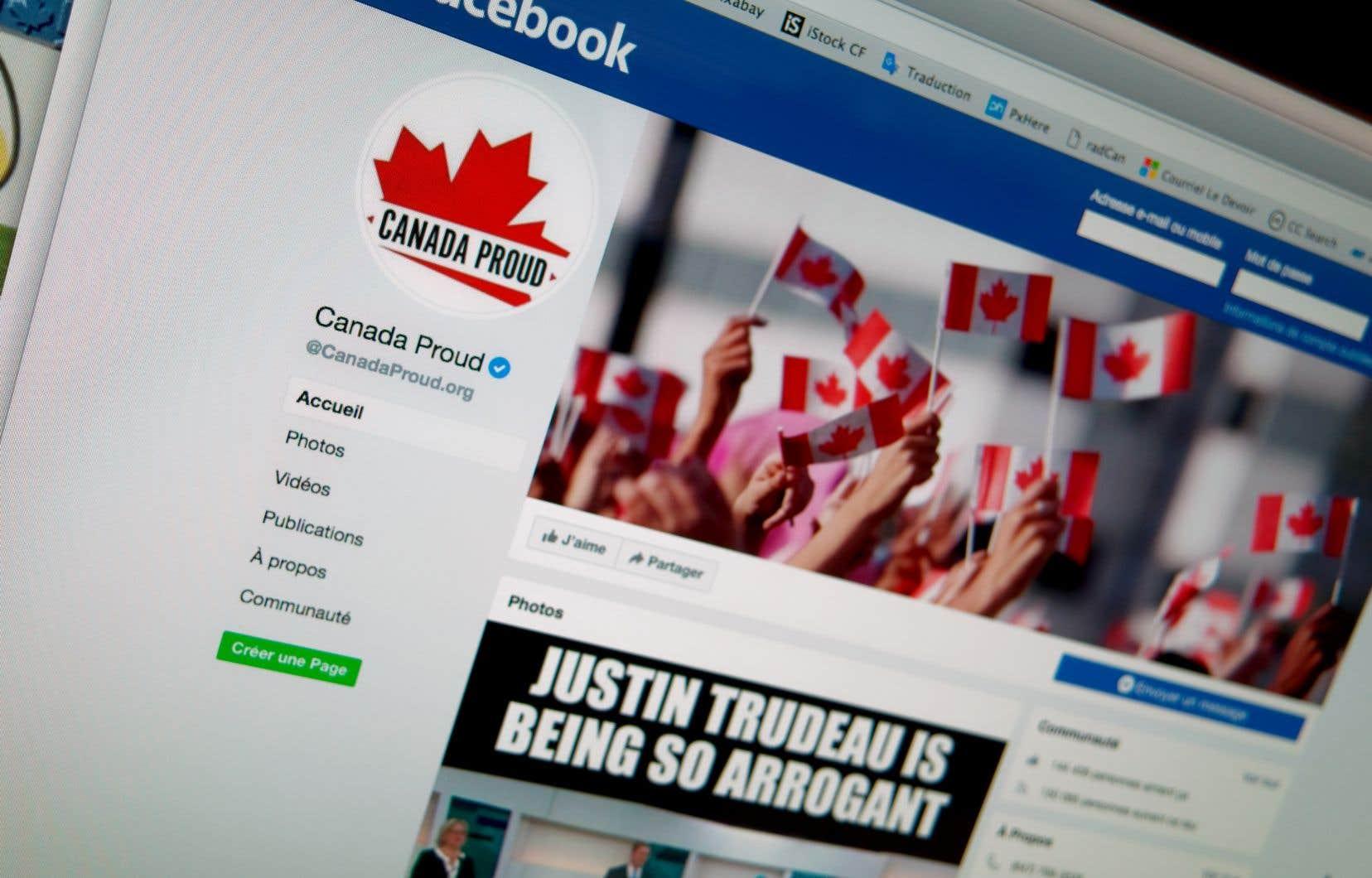 La méthode de Canada Proud consiste à miser sur les réseaux sociaux, Facebook au premier chef, pour diffuser des vidéos virales et des textes s'attaquant à l'adversaire ou le ridiculisant.