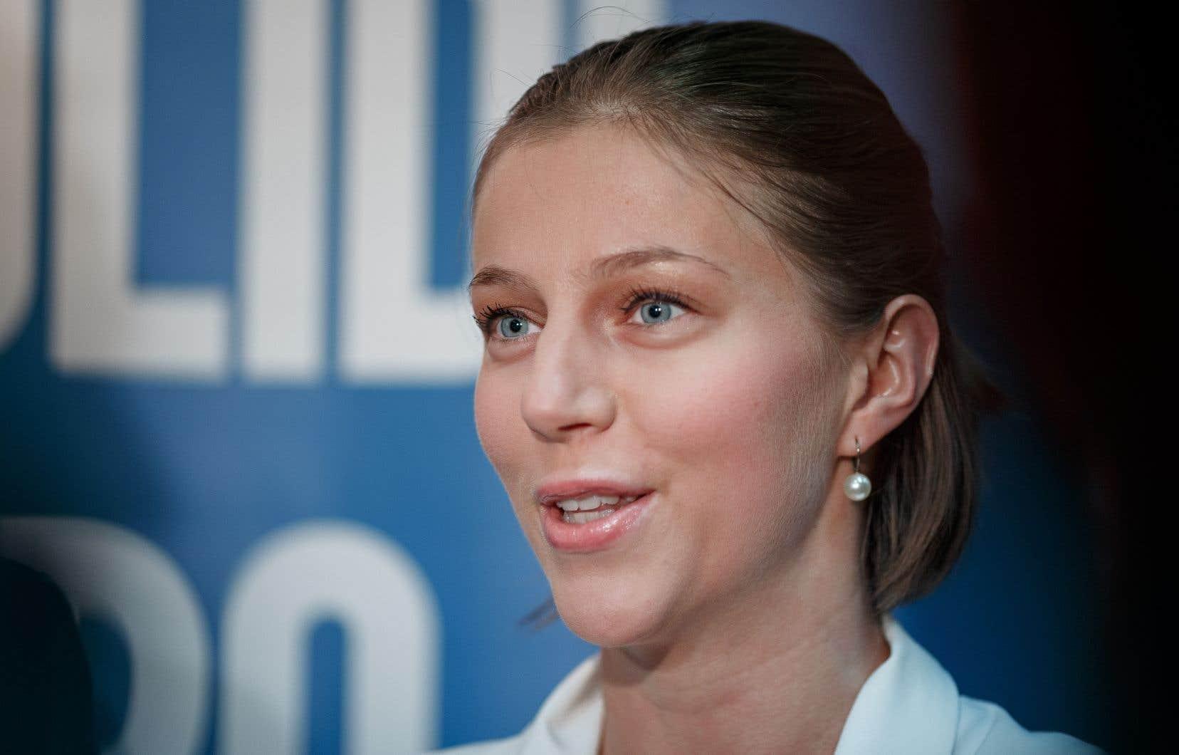 La présidente du Parti québécois, Gabrielle Lemieux
