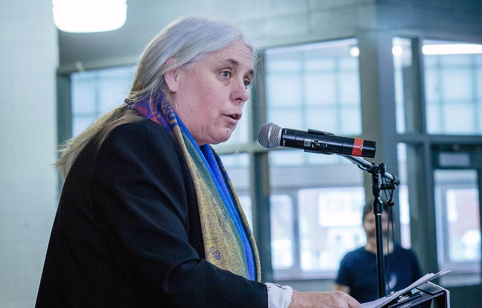 Manon Massé, co-porte-parolede Québec solidaire, demande aux autres partis de suspendre les travaux le 27septembre pour que l'ensemble des élus puisse participer à la manifestation pour le climat.
