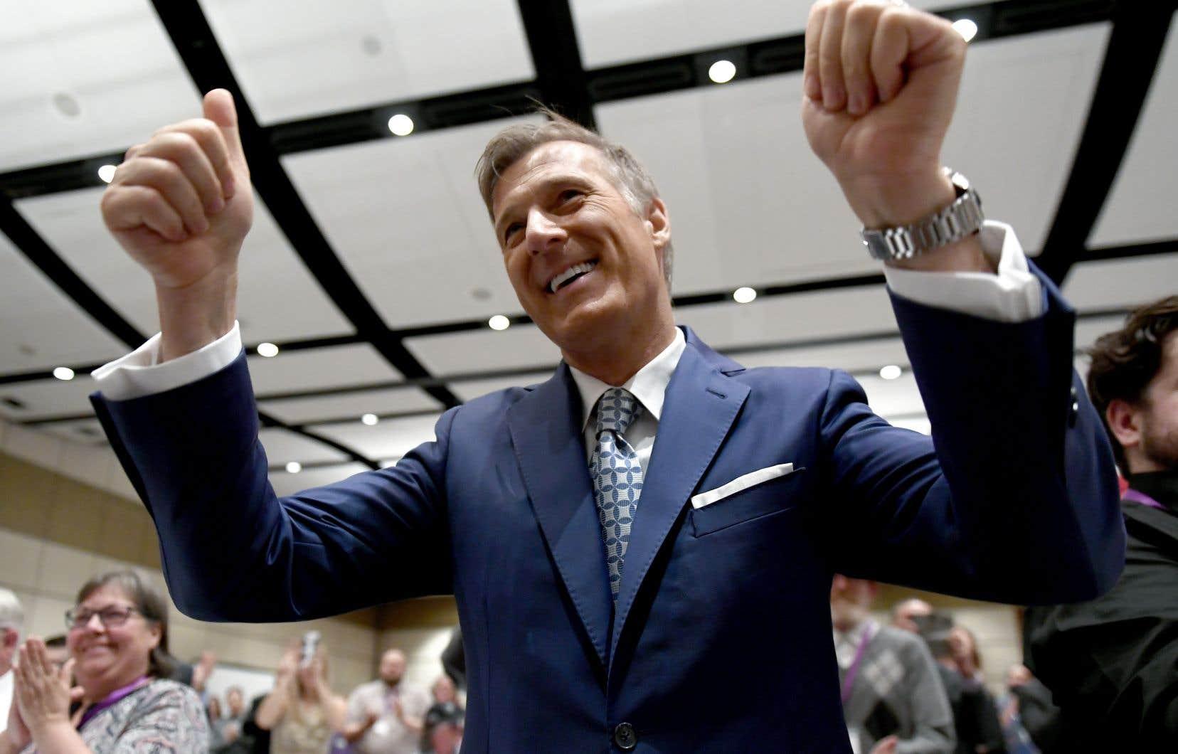Le chef du Parti populaire du Québec, Maxime Bernier