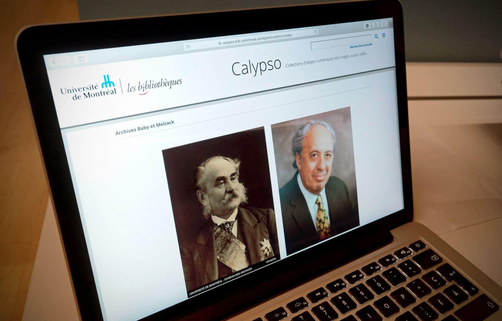 Les archives Baby et Melzack sont disponibles par l'entremise de la plateforme Calypso.