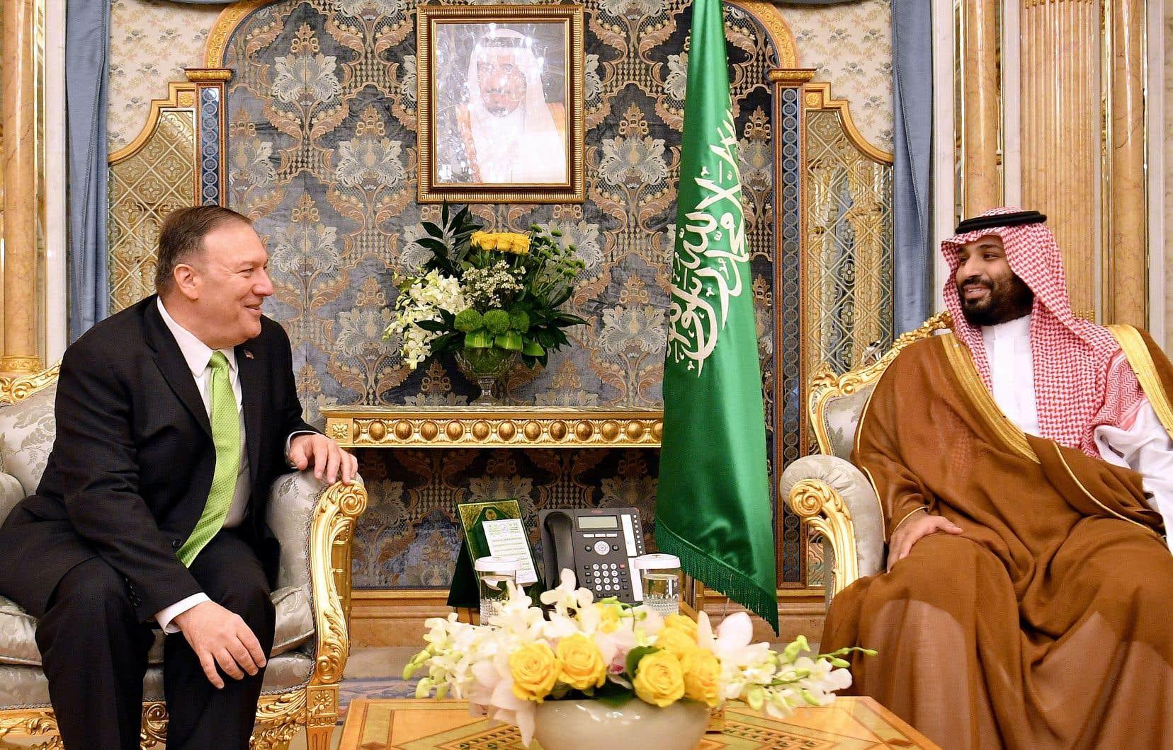 Le secrétaire d'État américain, Mike Pompeo, a rencontré l'homme fort de l'Arabie saoudite, le prince héritier Mohammed ben Salmane, mercredi, à Djeddah.