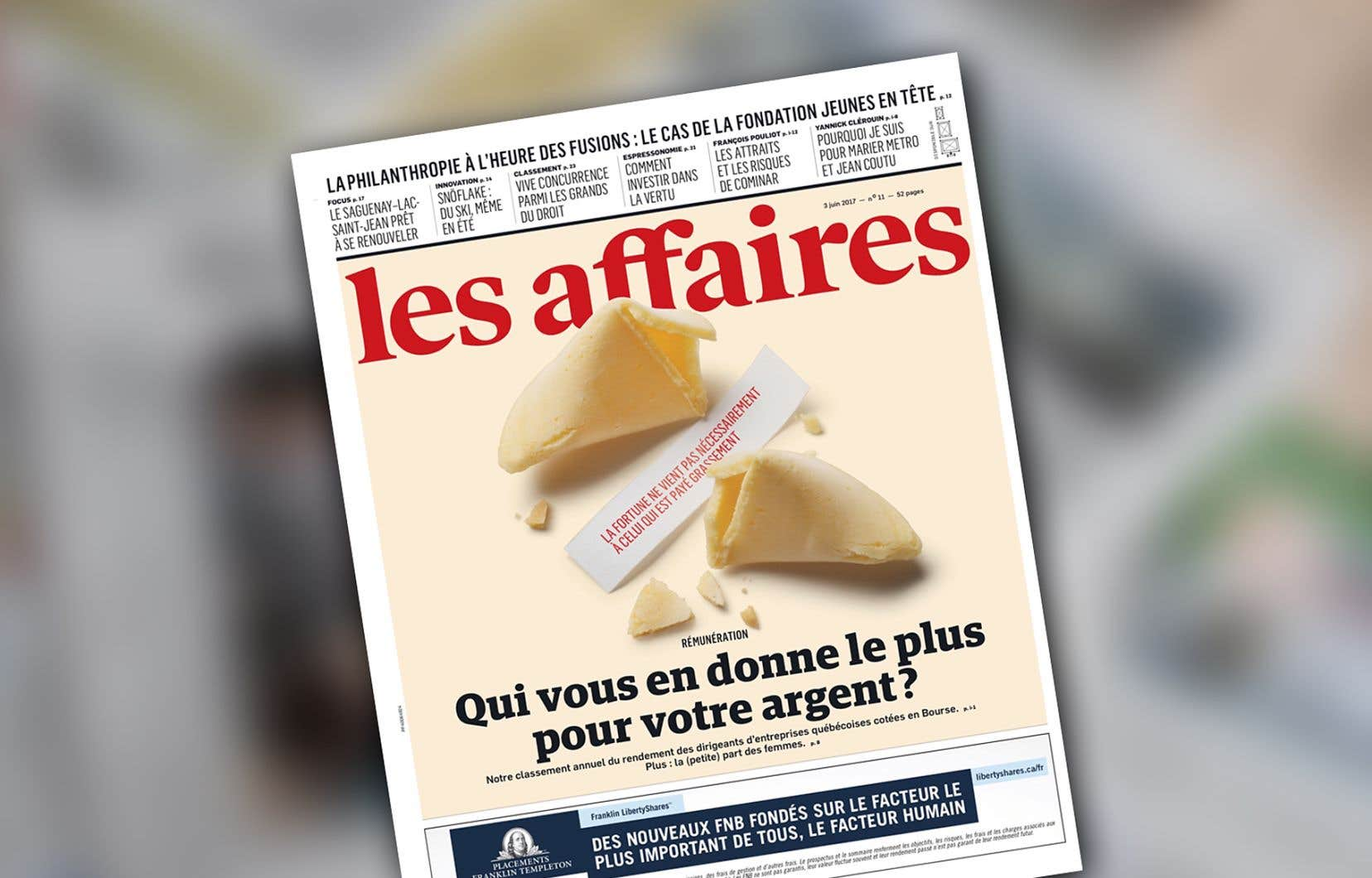 Le journal «Les Affaires»
