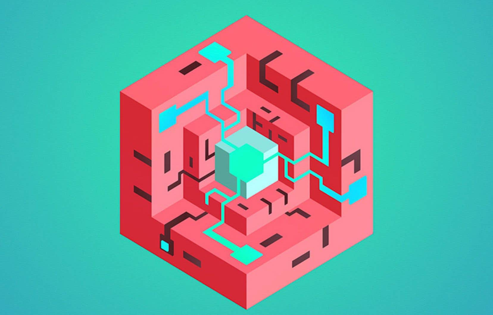 Pour résoudre les énigmes proposées, on doit faire tourner les faces d'un cube ouvert afin de permettre à un circuit partant de son centre de se connecter vers une ou plusieurs cibles.