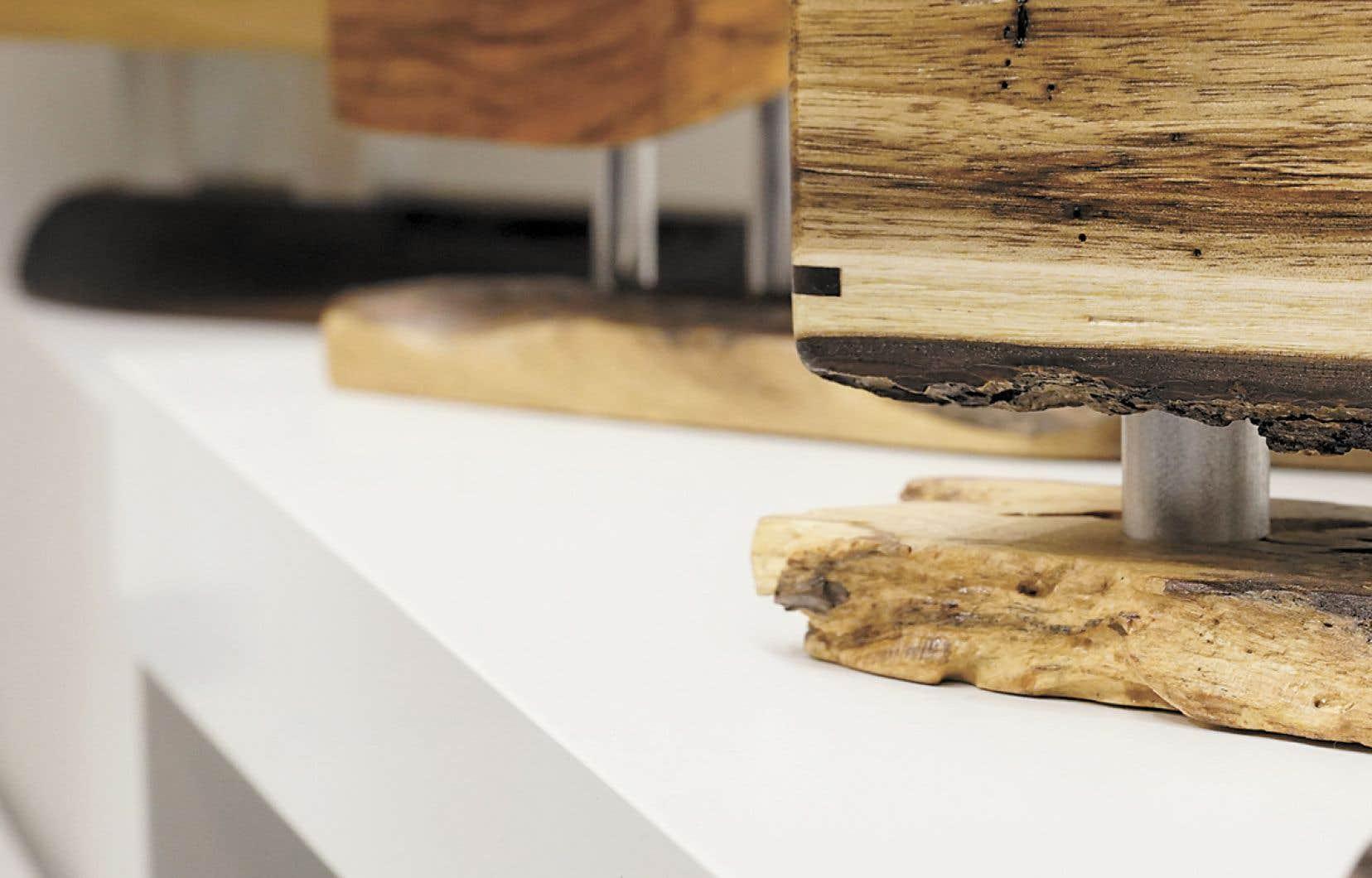 <p>Coffrets de bois parDenis Lavertu, ébéniste</p>  <p></p>