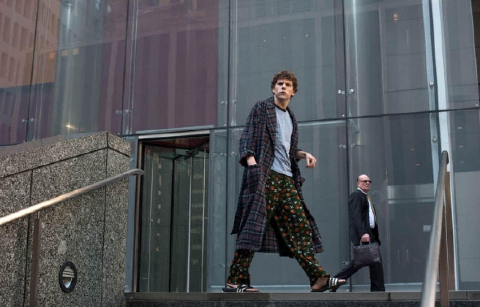 Jesse Eisenberg dans le rôle de Mark Zuckerberg, le créateur de Facebook<br />