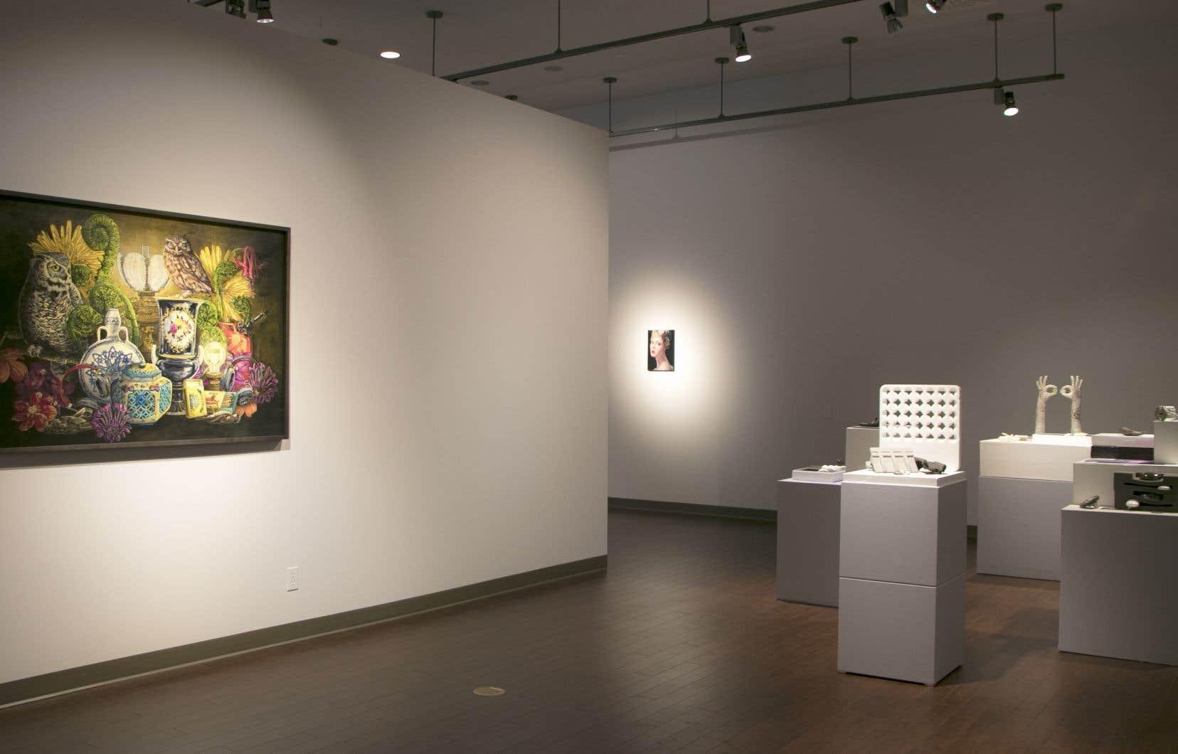 «Dans l'intimité du leurre», vue de l'exposition.