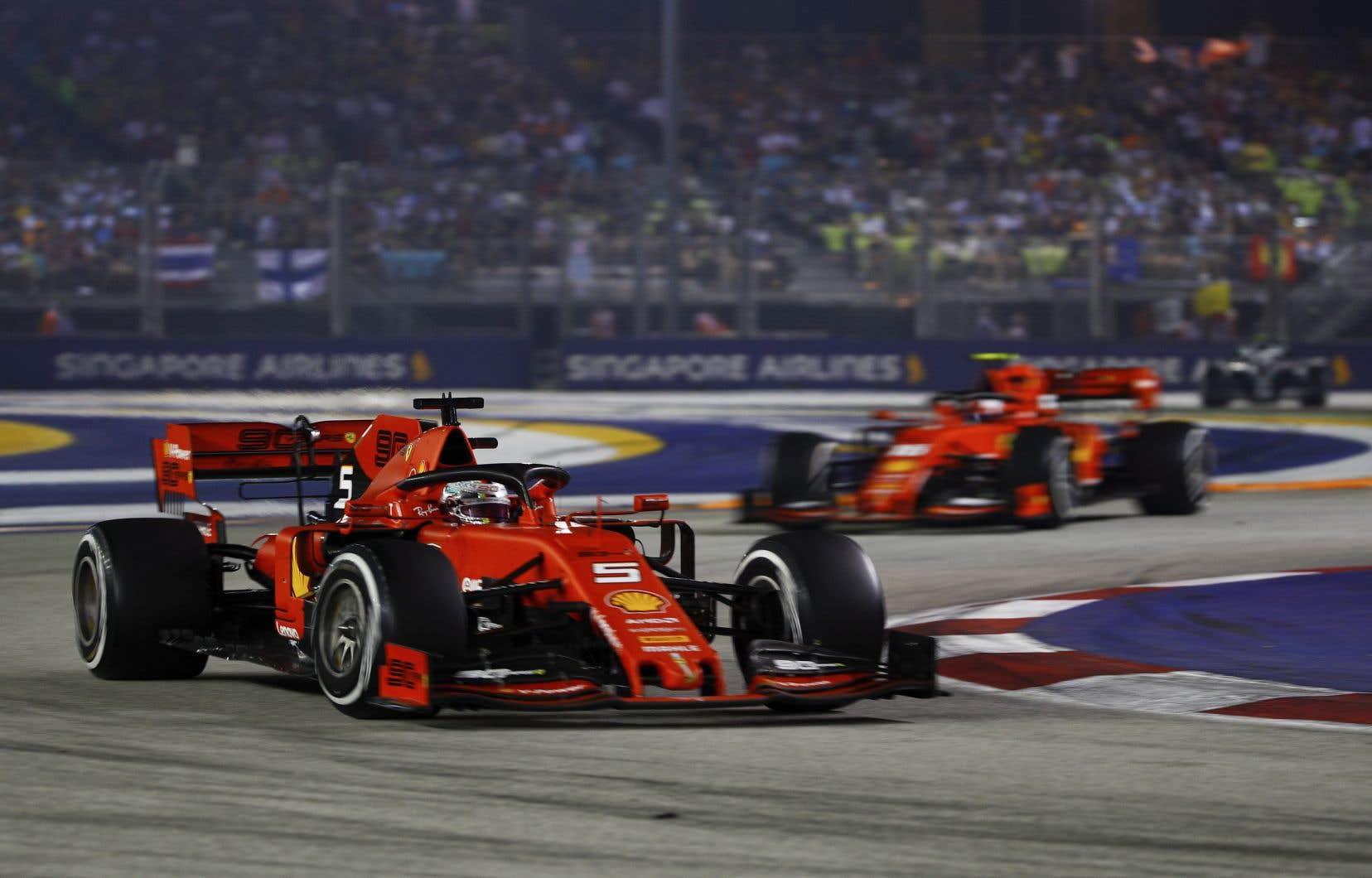 Vettel l'a emporté à cinq reprises à Singapour.