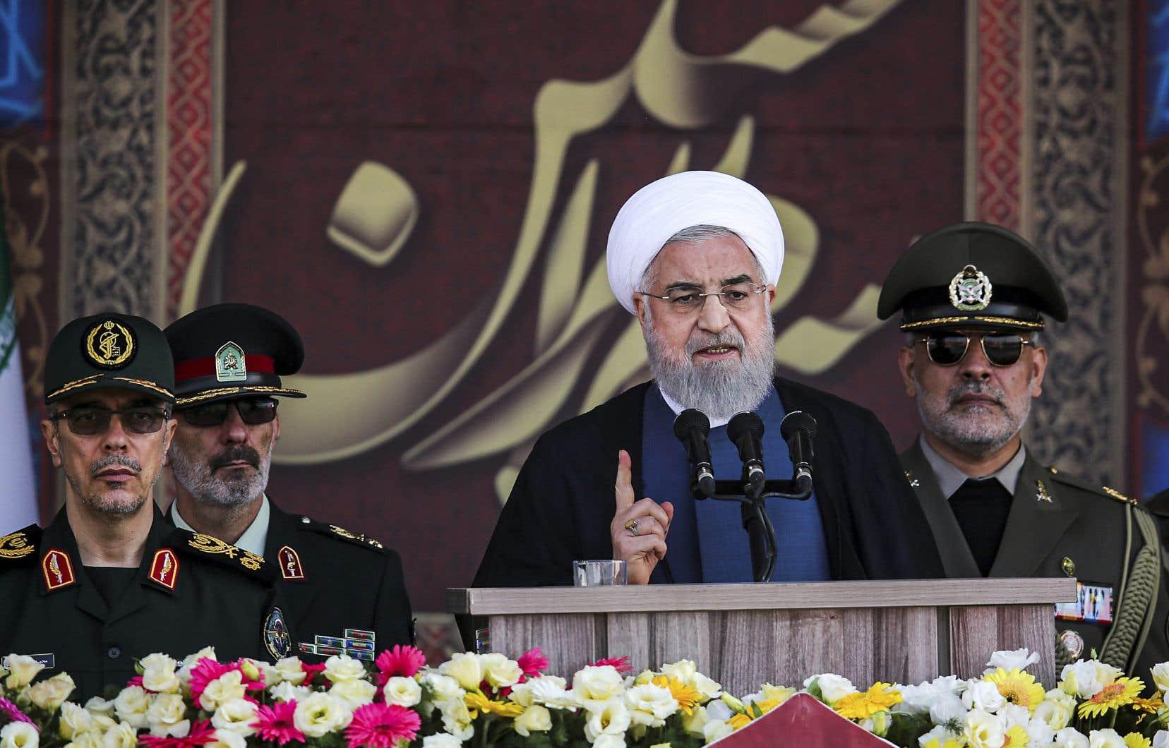 Hassan Rohani a fait l'annonce lors d'un défilé militaire à Téhéran soulignant le déclenchement de la guerre Iran-Irak, en 1980.