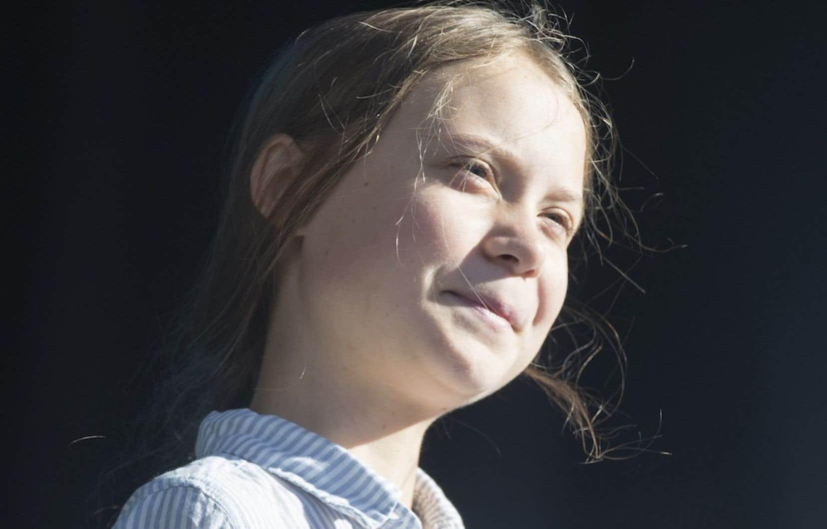 La militante écologiste suédoise Greta Thunberg, à Montréal