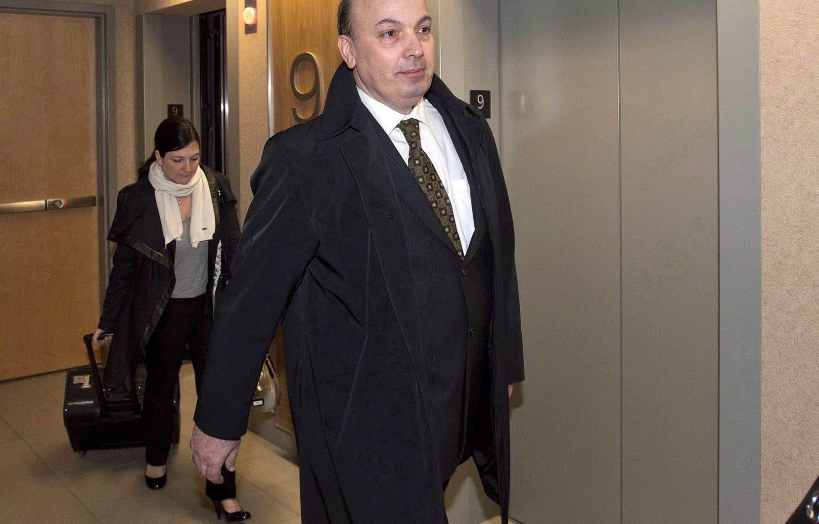 Frank Zampino en 2013. L'ex-président du comité exécutif de la Ville de Montréalétait notamment accusé de fraude et d'abus de confiance.