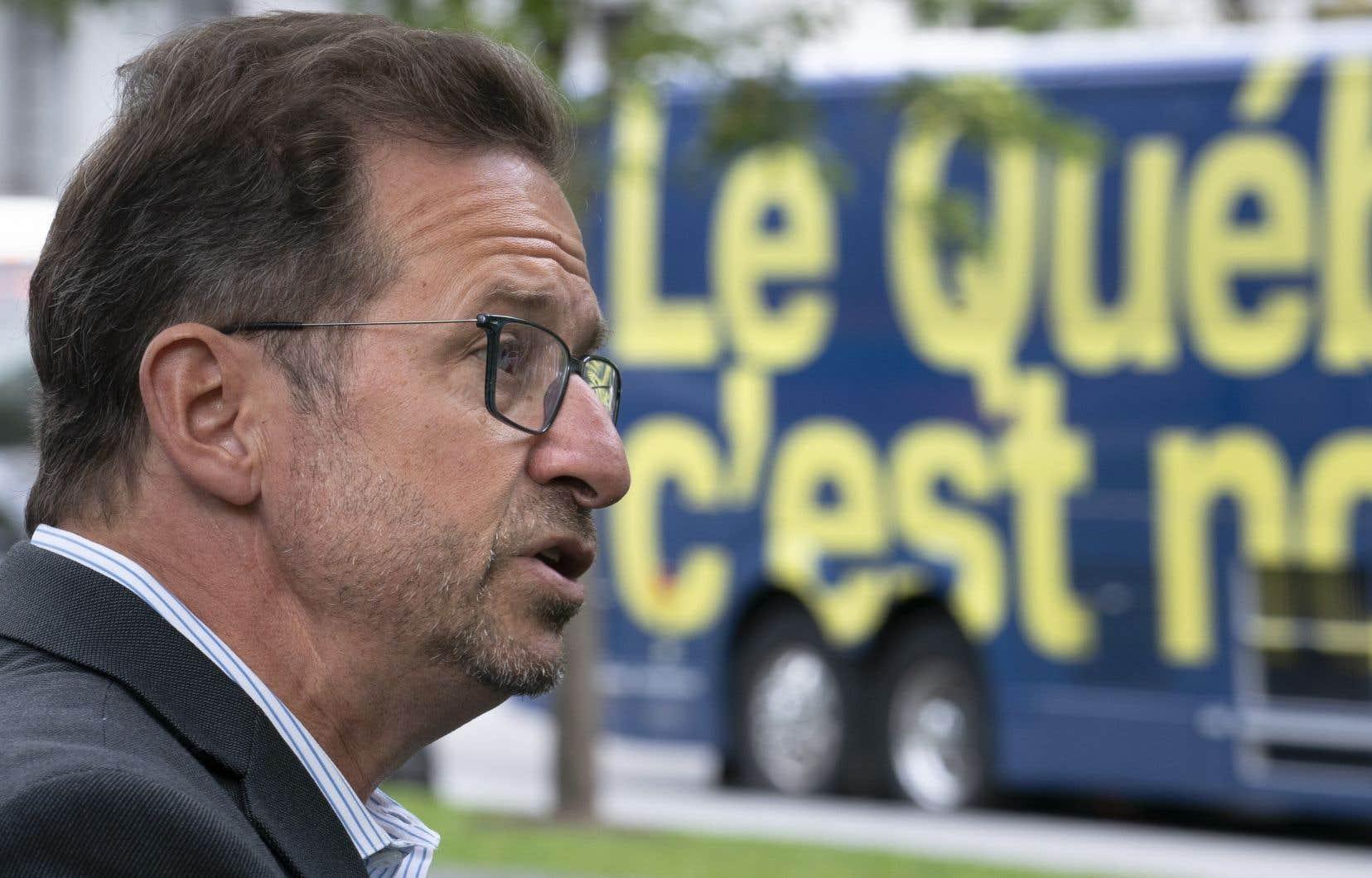 Yves-François Blanchetinvitait encore une fois les Québécois à envoyer suffisamment de bloquistes à Ottawa.