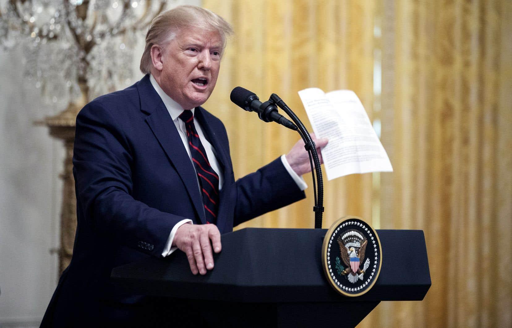 Donald Trump a laissé éclater sa colère, mercredi, en conférence de presse à la Maison-Blanche.