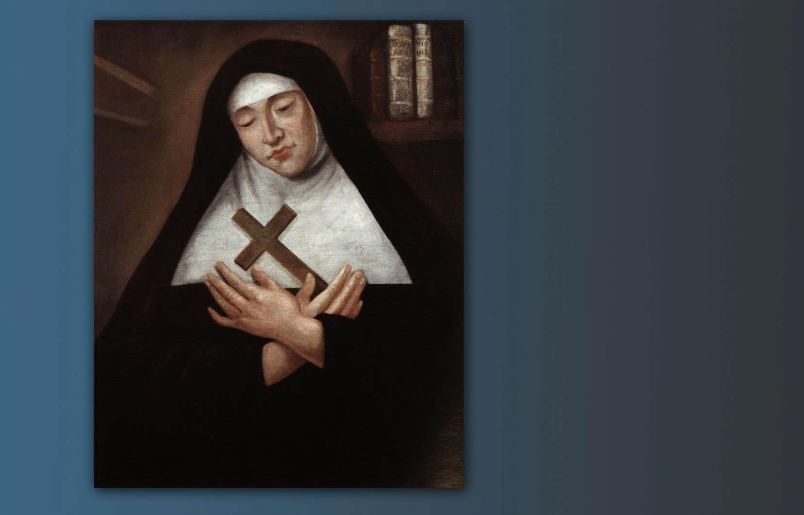 Portrait de Mère Marie de l'Incarnation, attribué à Hugues Pommier, 1672