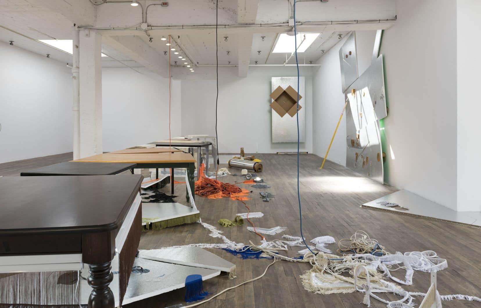 Vue de l'exposition «Le quart de la moitié du vide/A Quarter of Half the Void», de Manuela Lalic