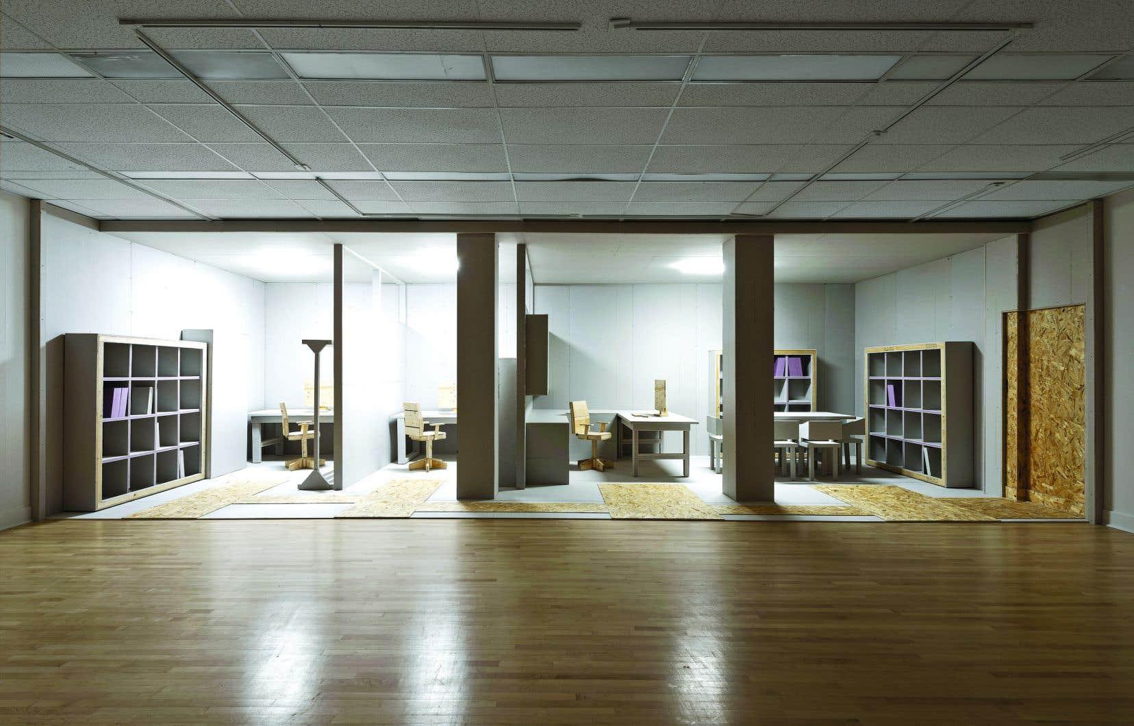 Vue de l'exposition «Le bureau».