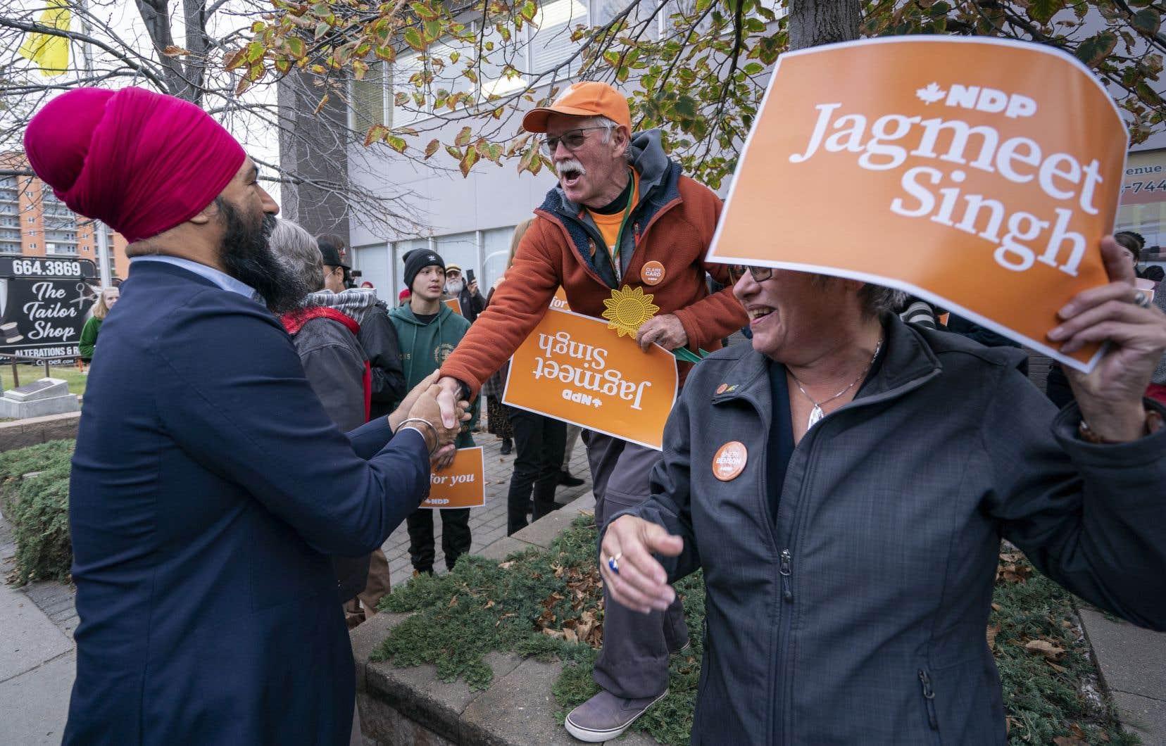 Le chef du Nouveau Parti démocratique, Jagmeet Singh, était de passage en Saskatchewan vendredi matin.