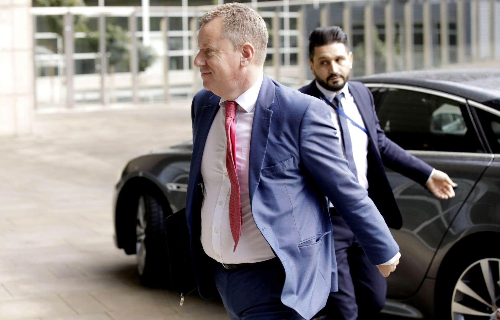 David Frost, l'émissaire du premier ministre britannique, était à Bruxelles toute la journée pour des séances de travail.