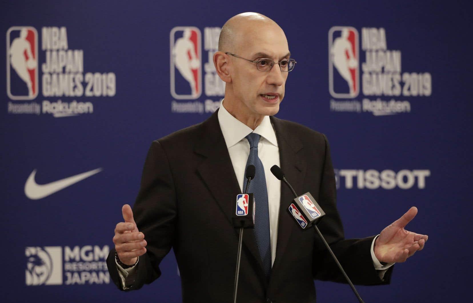Le commissaire de la NBA, Adam Silver, est attendu mercredi en Chine, où il doit notamment rencontrer des responsables chinois.